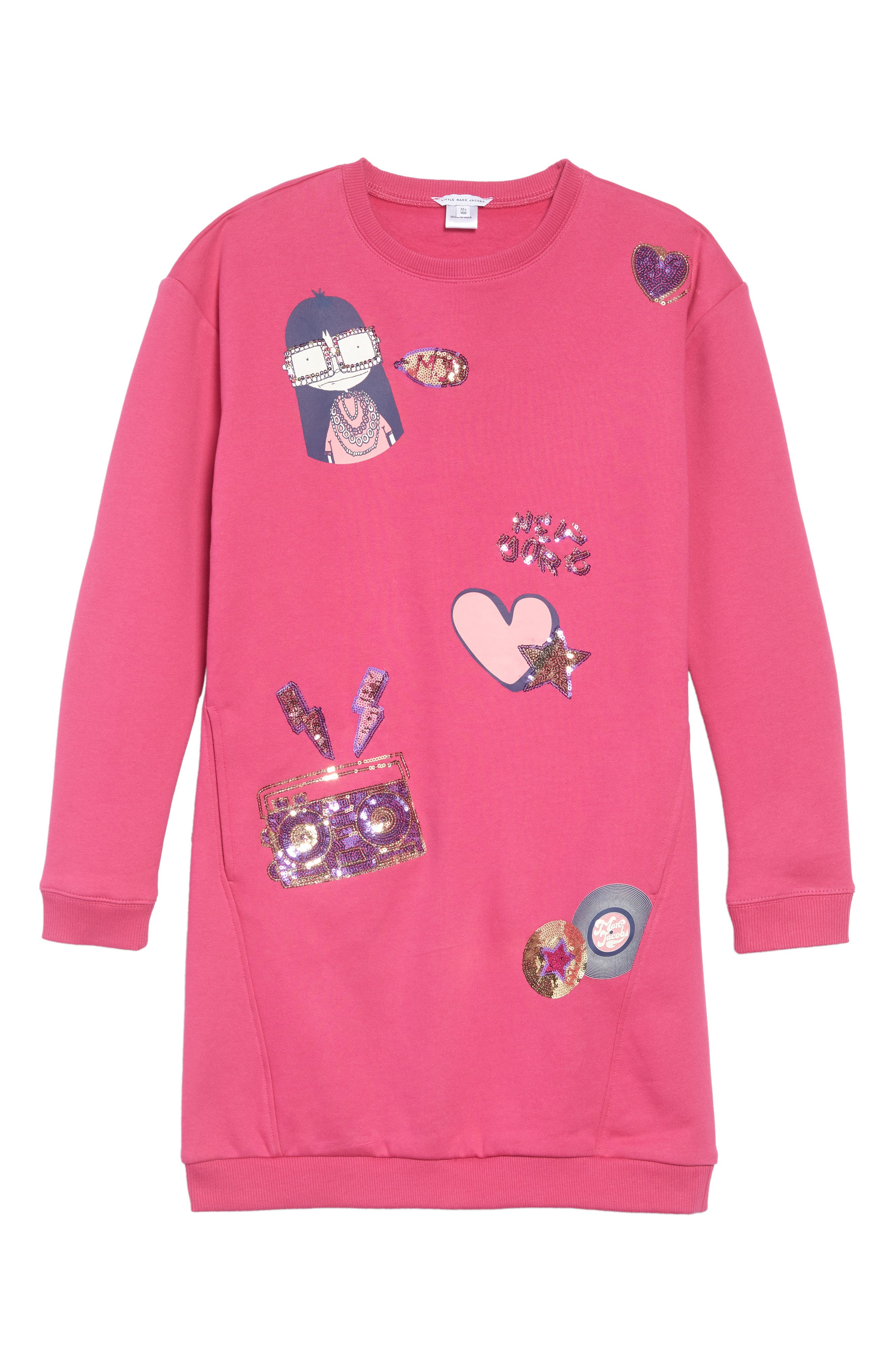 Miss Marc Sweatshirt Dress, Main, color, 670