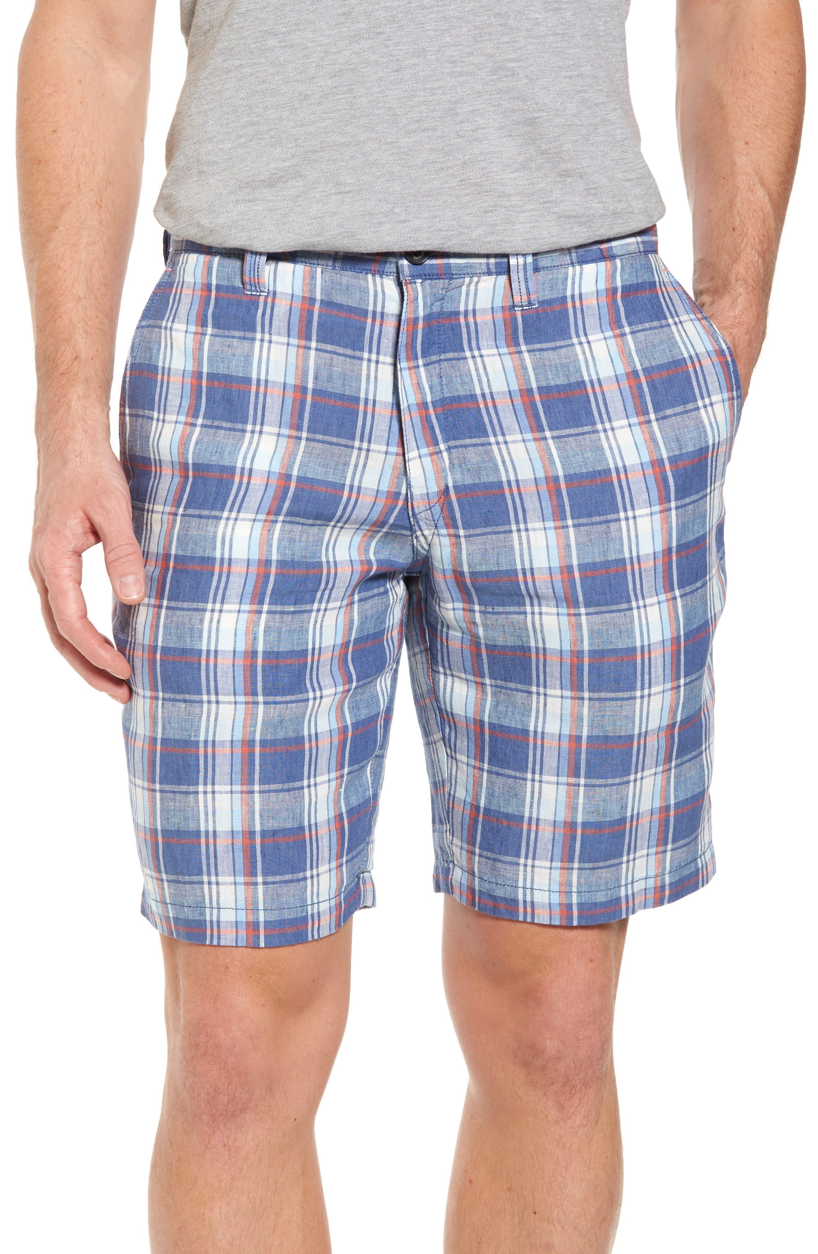 Plaid De Leon Reversible Shorts,                             Main thumbnail 2, color,