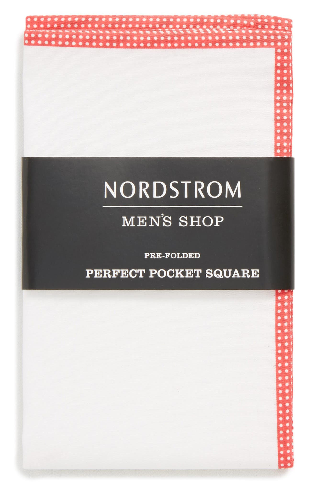 The Perfect Pre-Folded Pocket Square,                             Alternate thumbnail 2, color,                             RED DOT