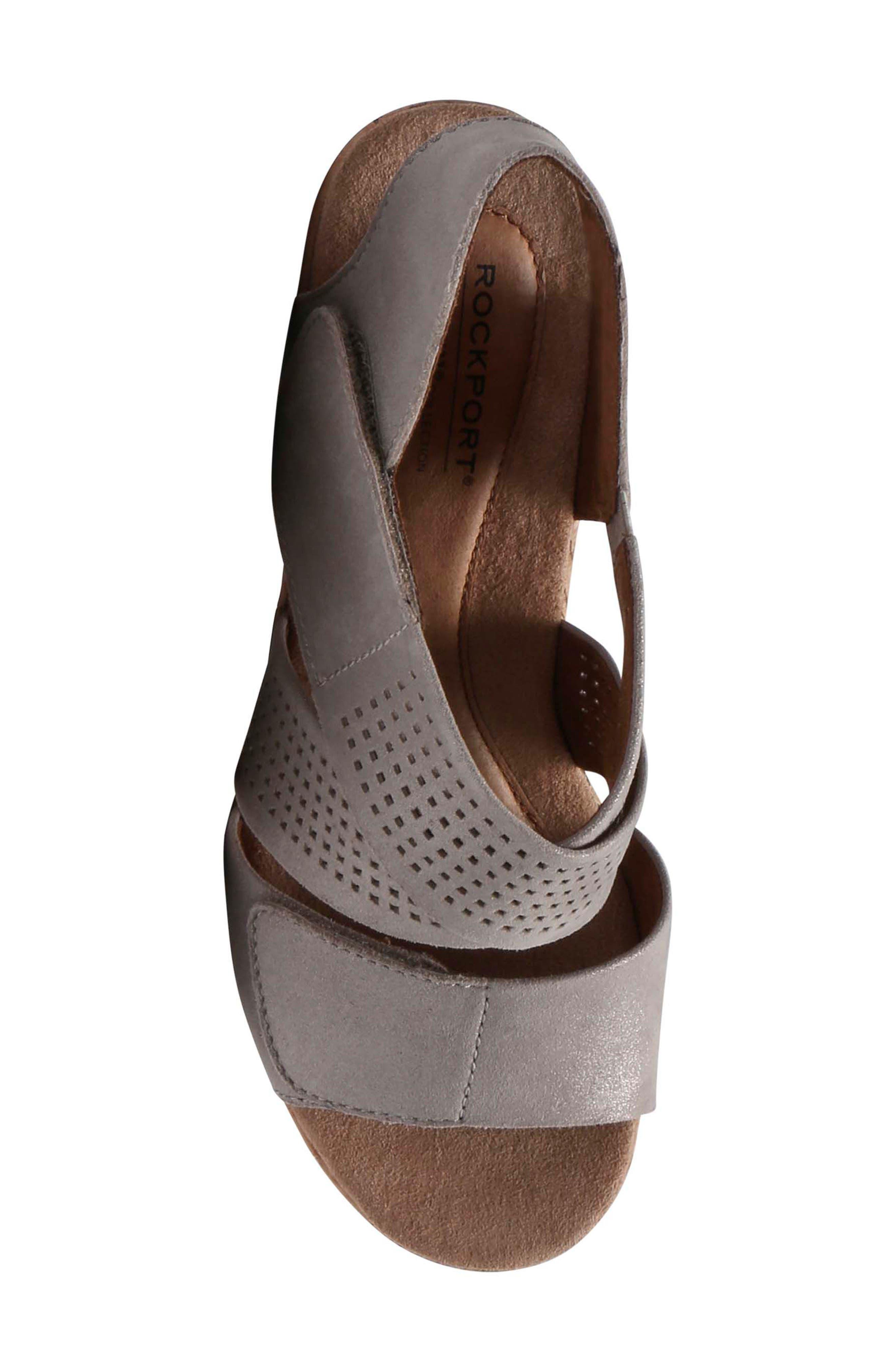 Janna Cross Strap Wedge Sandal,                             Alternate thumbnail 23, color,