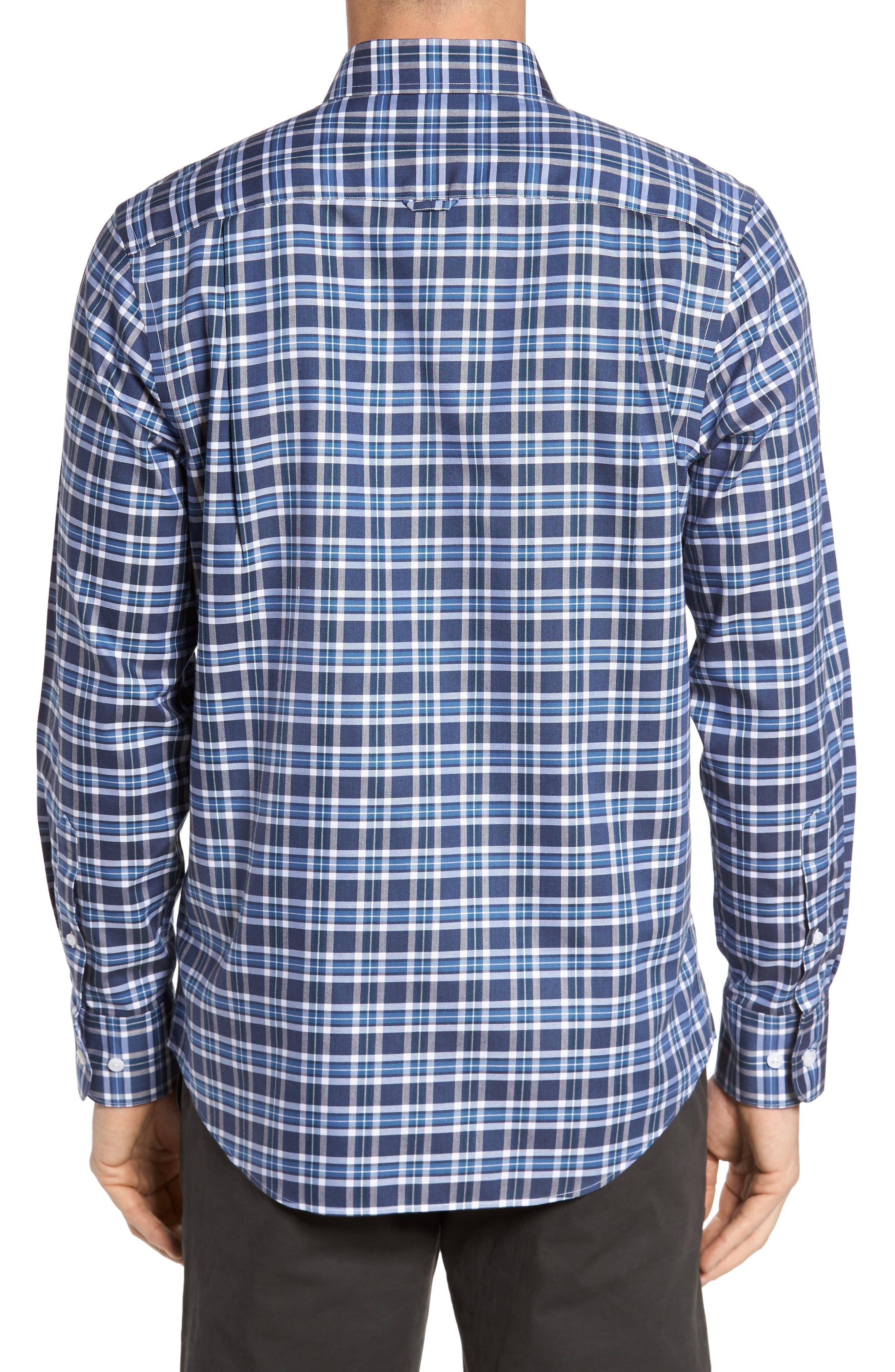 Smartcare<sup>™</sup> Regular Fit Plaid Sport Shirt,                             Alternate thumbnail 12, color,