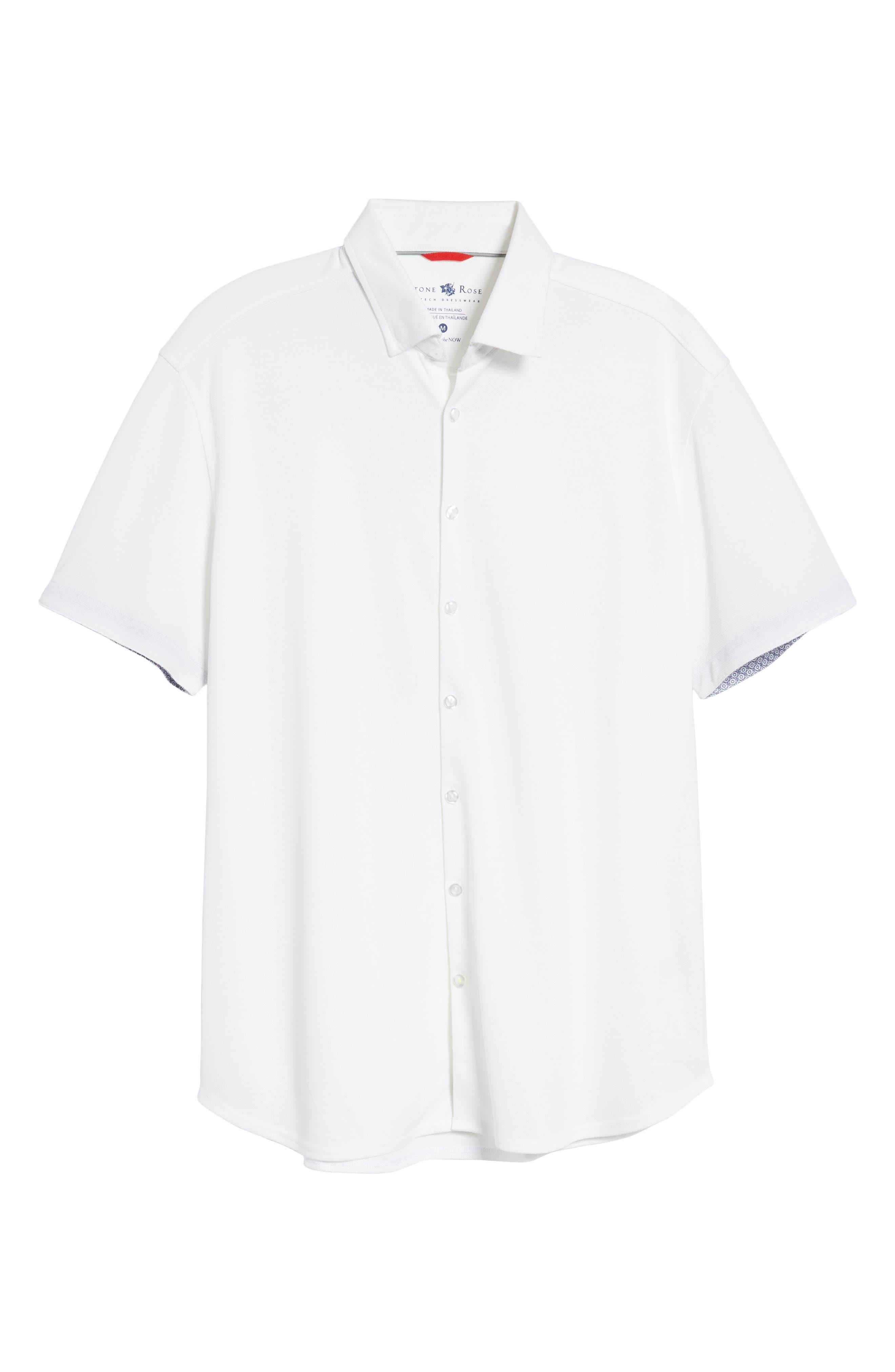 Knit Sport Shirt,                             Alternate thumbnail 6, color,                             100