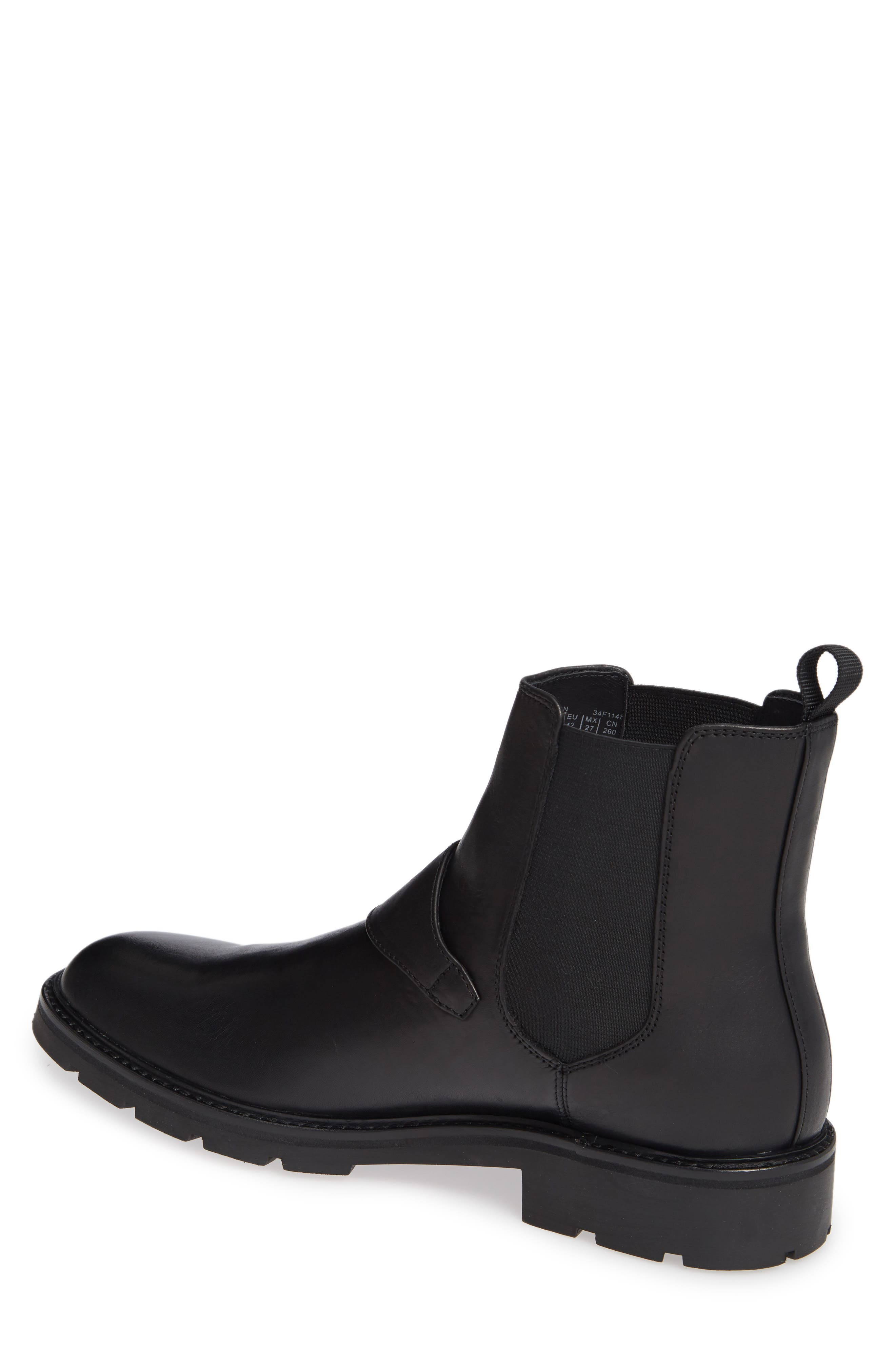 Upton Chelsea Buckle Boot,                             Alternate thumbnail 2, color,                             BLACK LEATHER