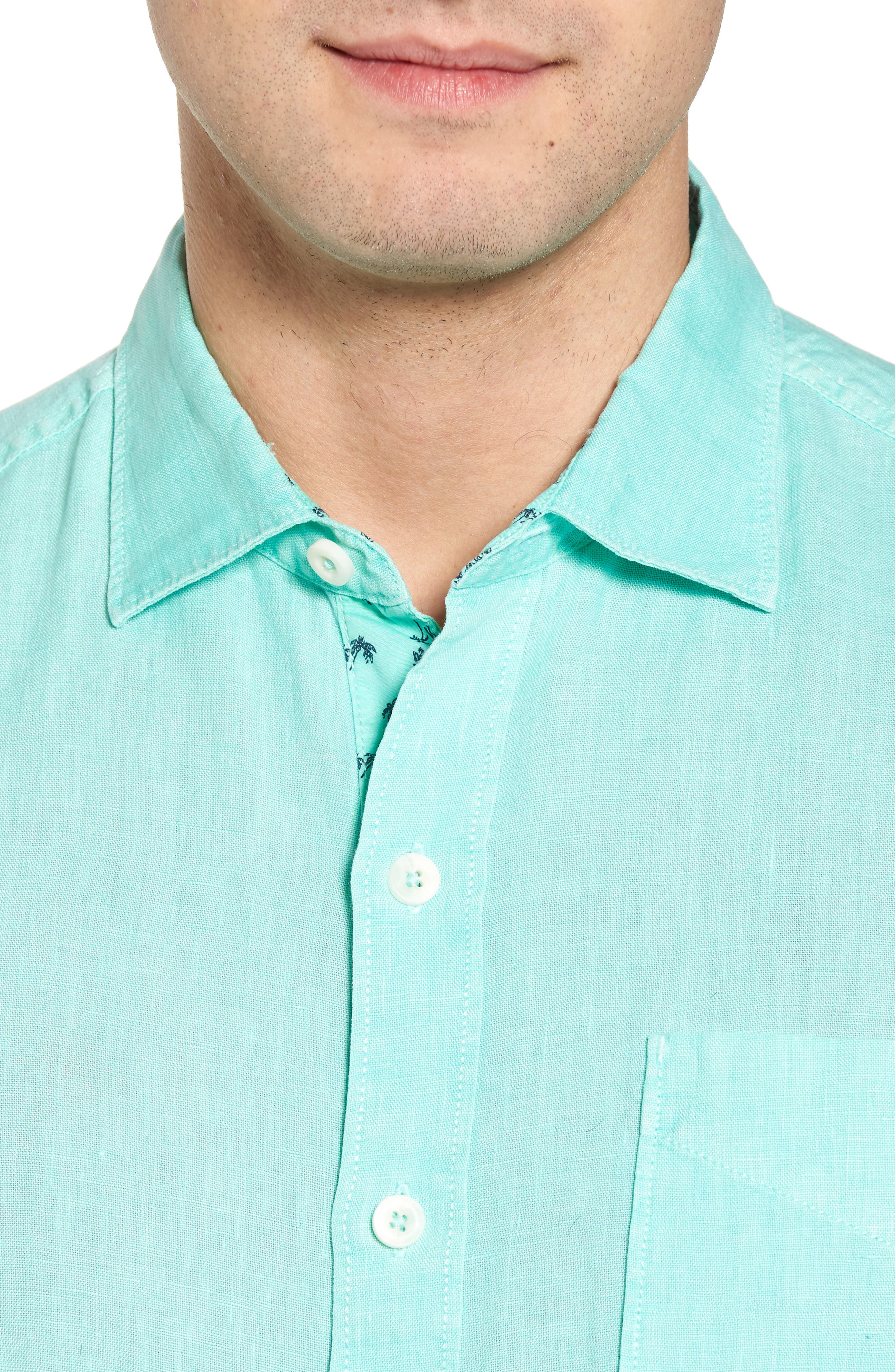 Seaspray Breezer Regular Fit Linen Sport Shirt,                             Alternate thumbnail 14, color,