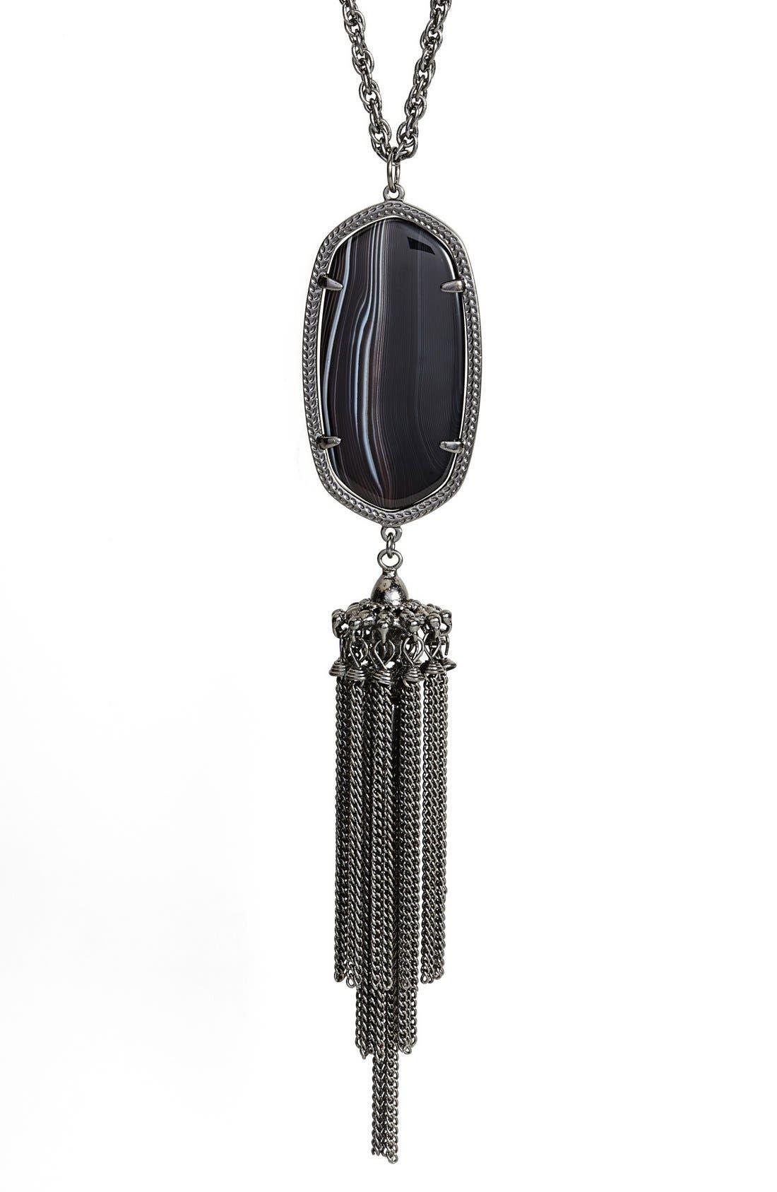 'Rayne' Tassel Pendant Necklace,                             Alternate thumbnail 15, color,