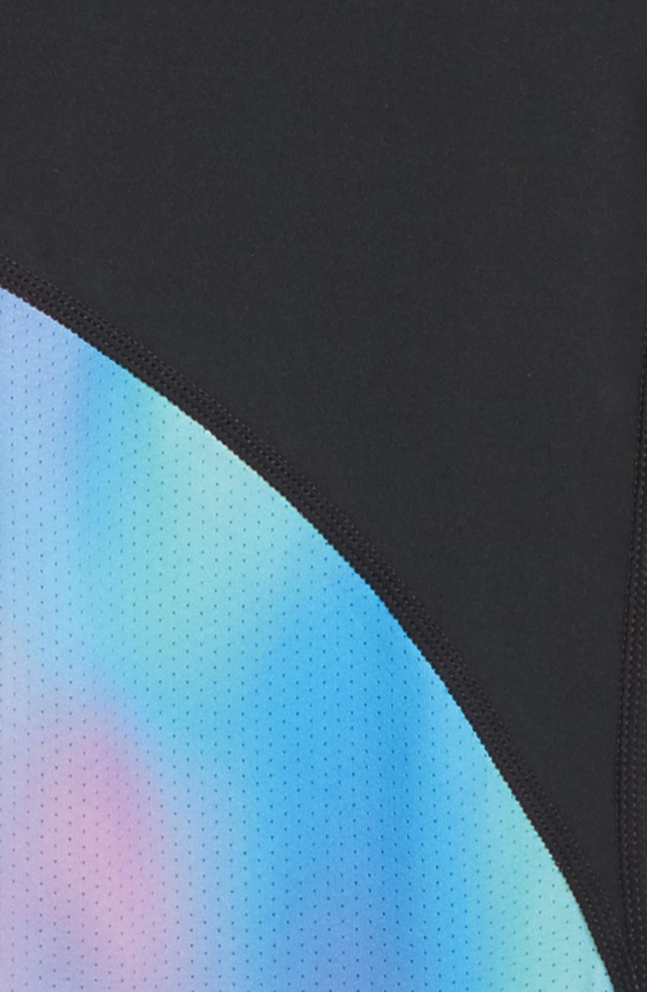 Pro Print Training Tights,                             Alternate thumbnail 3, color,                             BLK/ HYPER JD/ BLK/ LT AQUA