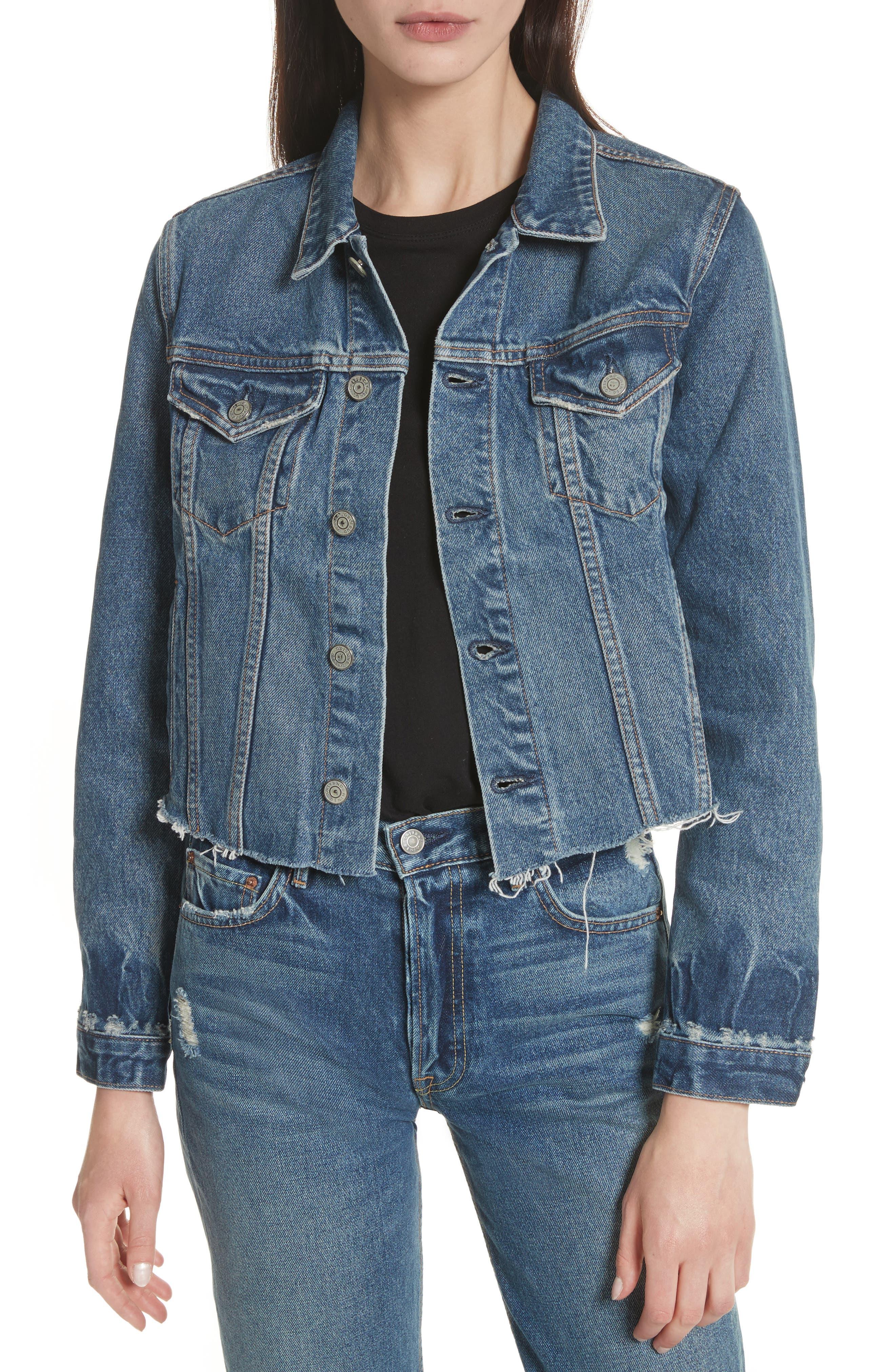 Cara Crop Denim Jacket,                         Main,                         color,