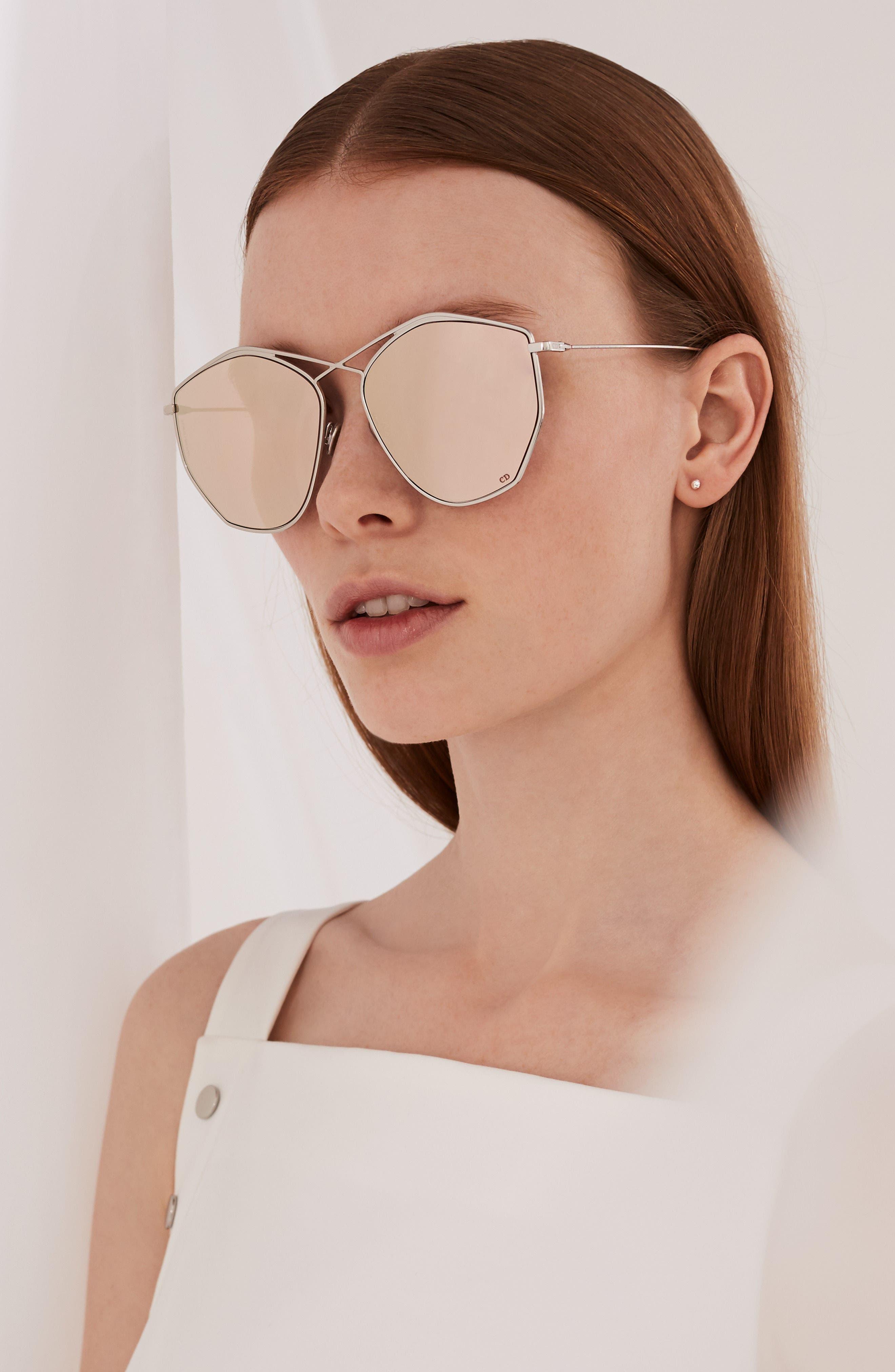 59mm Metal Sunglasses,                             Alternate thumbnail 4, color,                             LIGHT GOLD