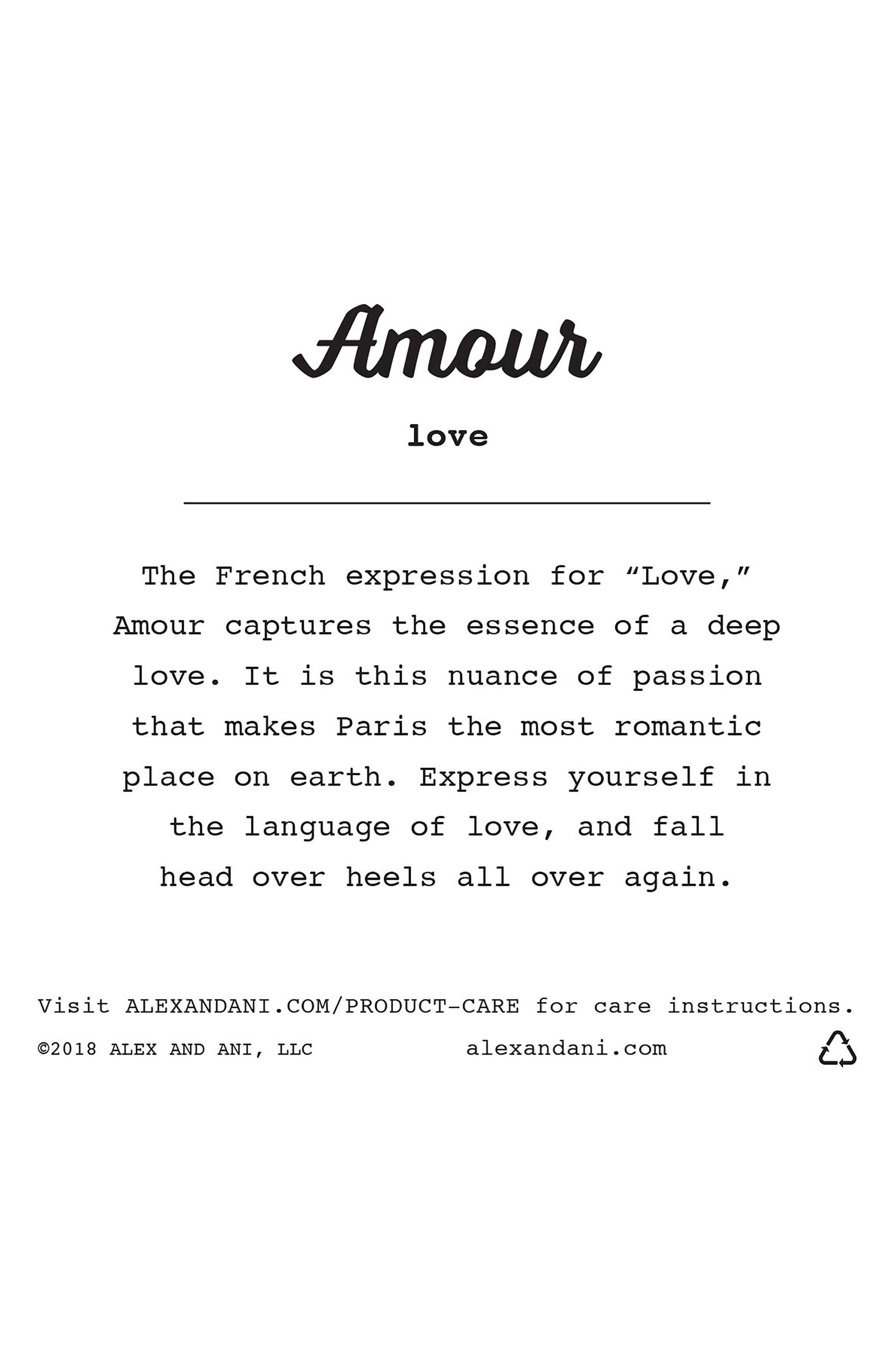 Amour Charm Bangle,                             Alternate thumbnail 3, color,                             040