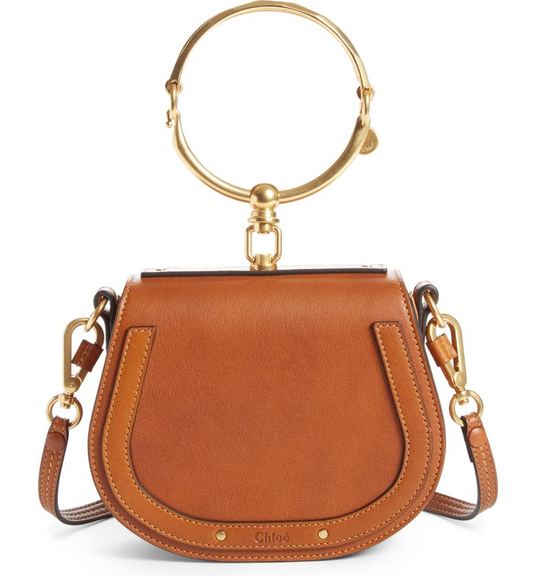 effab23dfe5f Chloé Small Nile Bracelet Leather Crossbody Bag