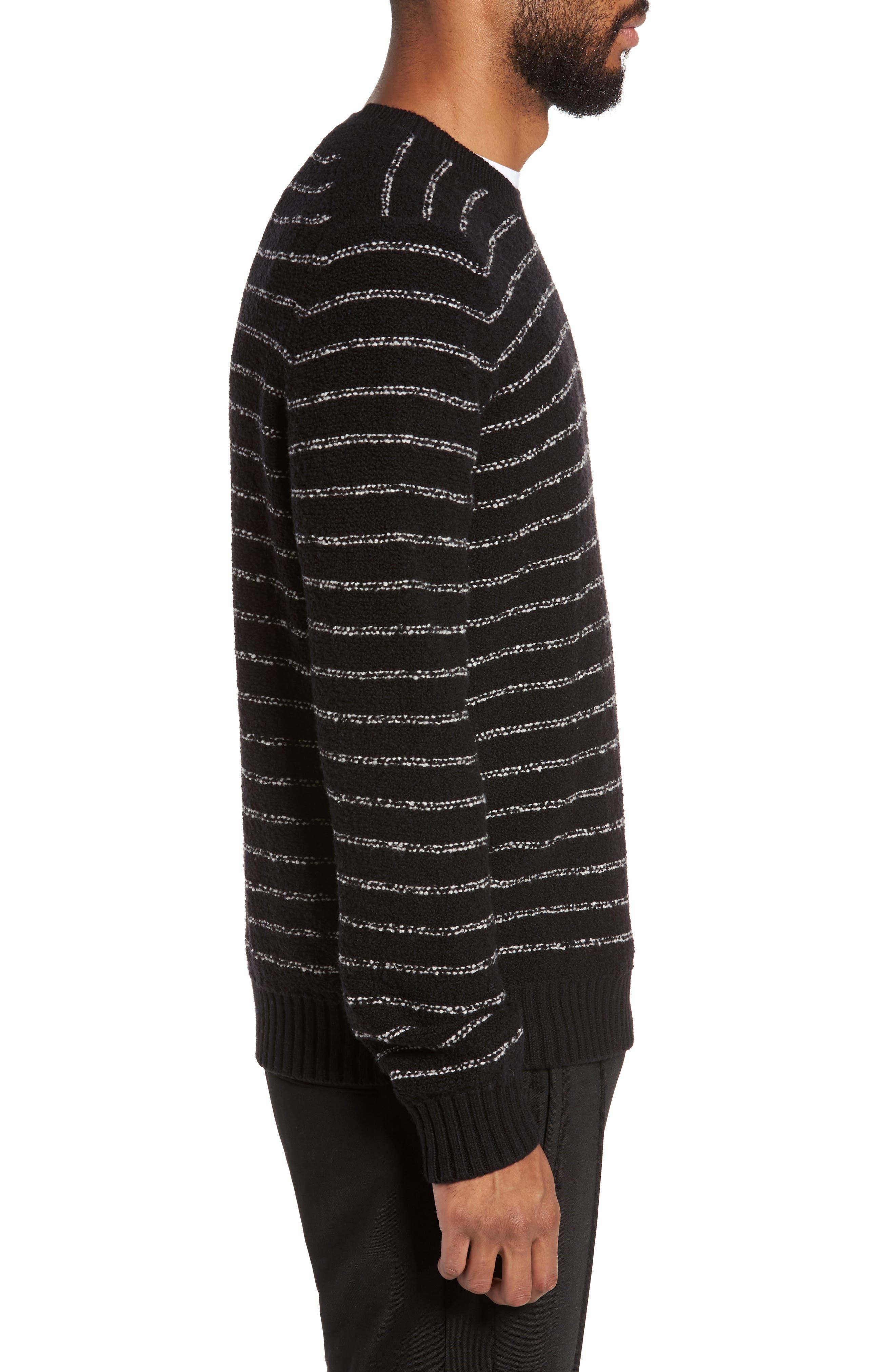 Stripe Merino Sweater,                             Alternate thumbnail 3, color,                             001