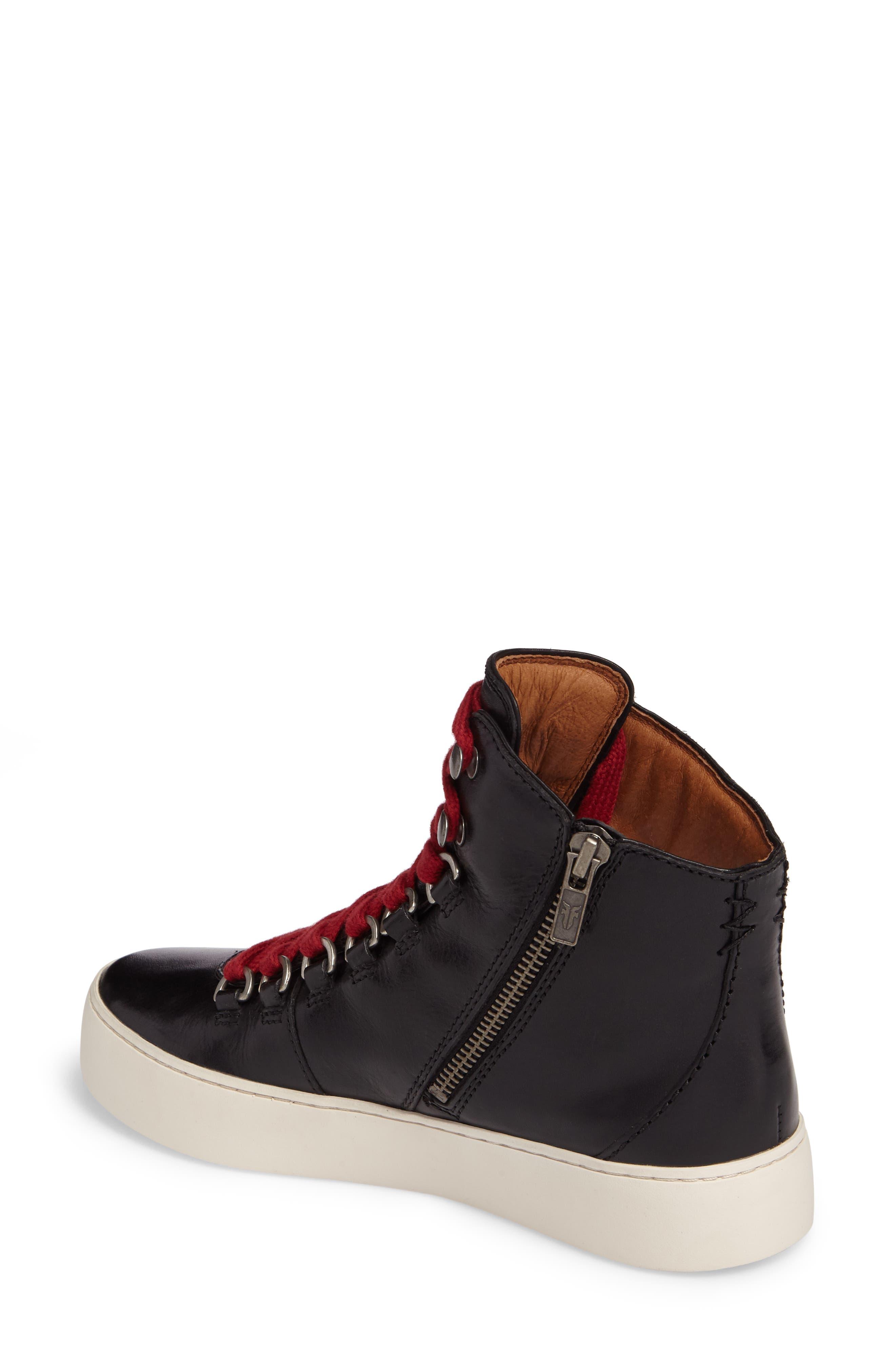 Lena Hiker High Top Sneaker,                             Alternate thumbnail 2, color,                             001