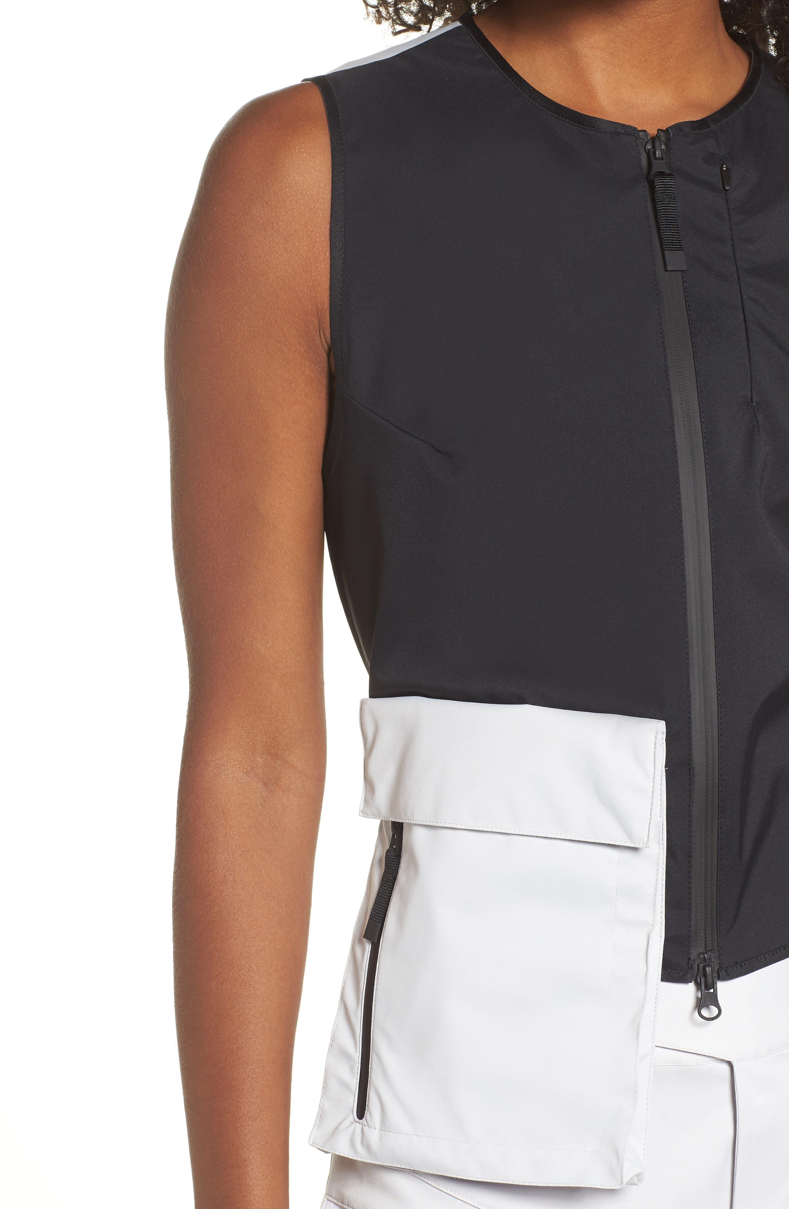 NRG Women's Utility Vest,                             Alternate thumbnail 4, color,                             BLACK/ VAPOR GREEN/ BLACK