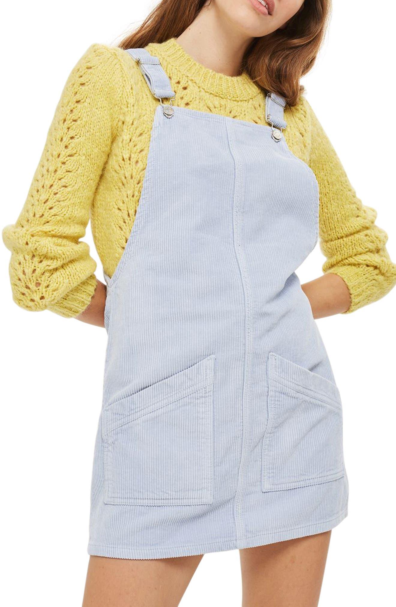 Corduroy Pinafore Dress,                             Main thumbnail 1, color,