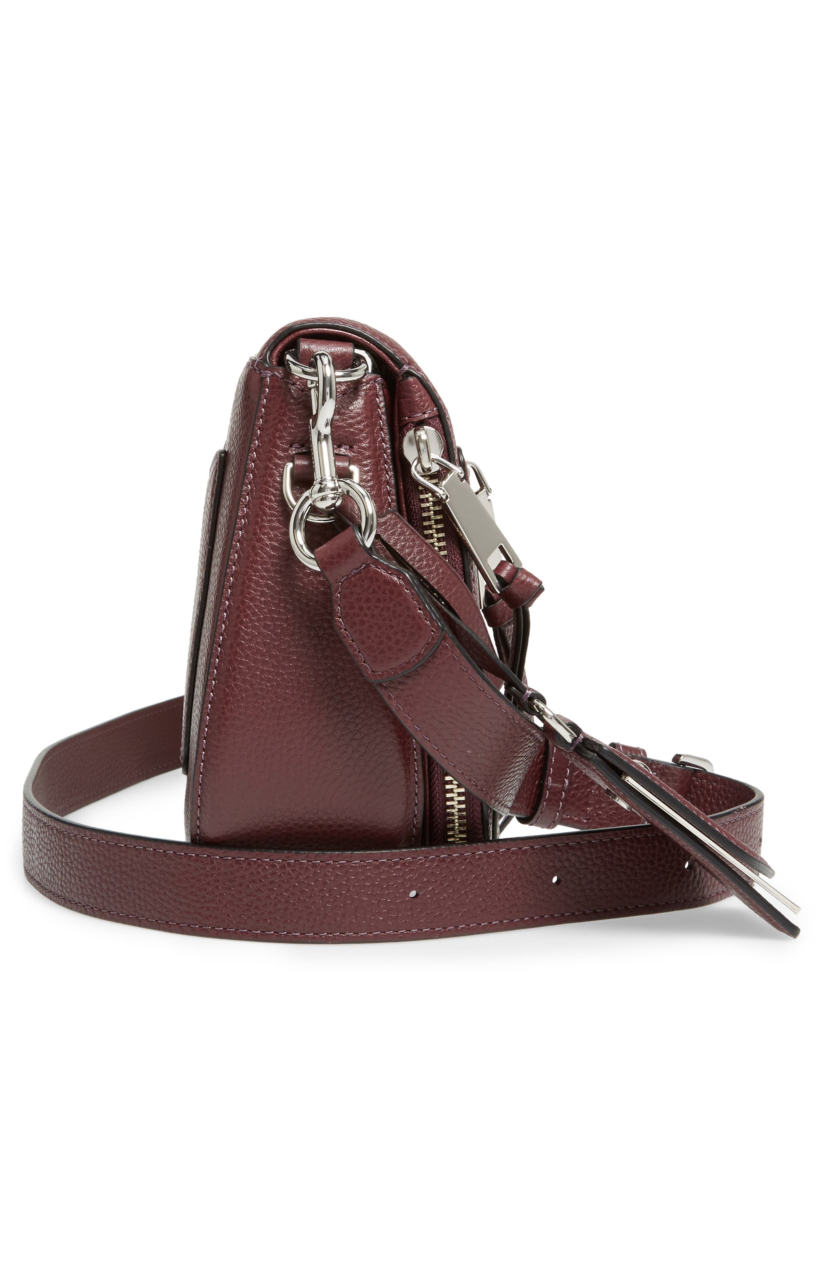 Small Recruit Nomad Pebbled Leather Crossbody Bag,                             Alternate thumbnail 58, color,