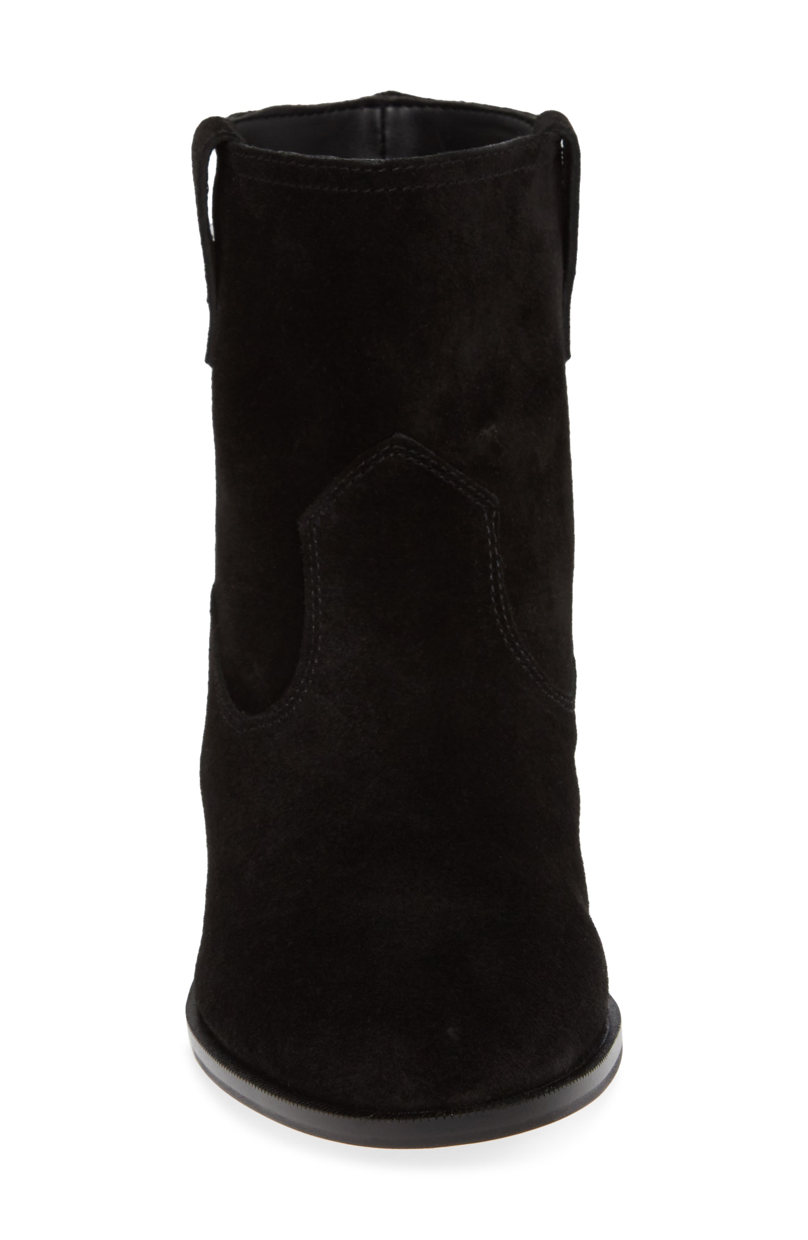 Chasidy Bootie,                             Alternate thumbnail 4, color,                             BLACK SUEDE