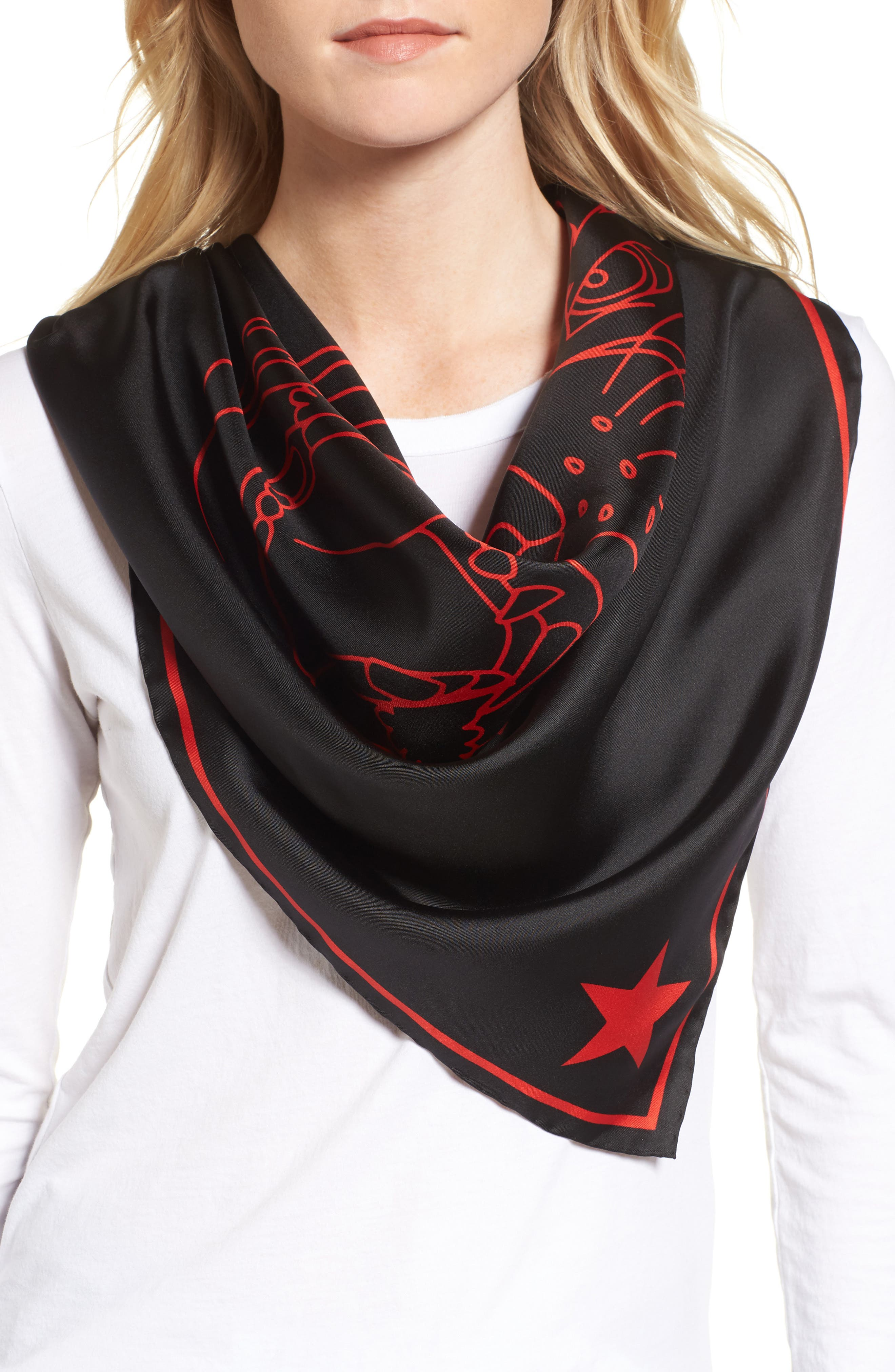 Rottweiler Silk Twill Scarf,                             Alternate thumbnail 3, color,