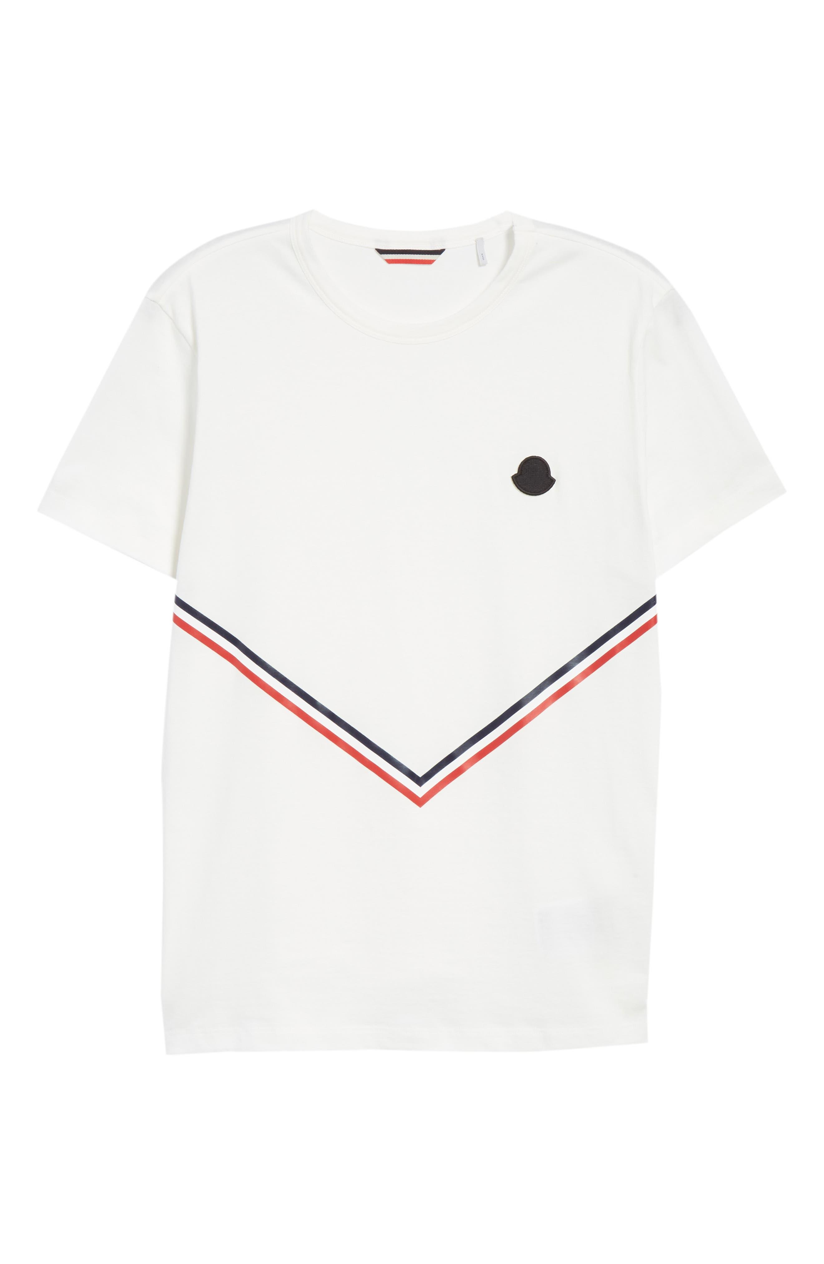 Chevron Stripe Print T-Shirt,                             Alternate thumbnail 6, color,                             NATURAL