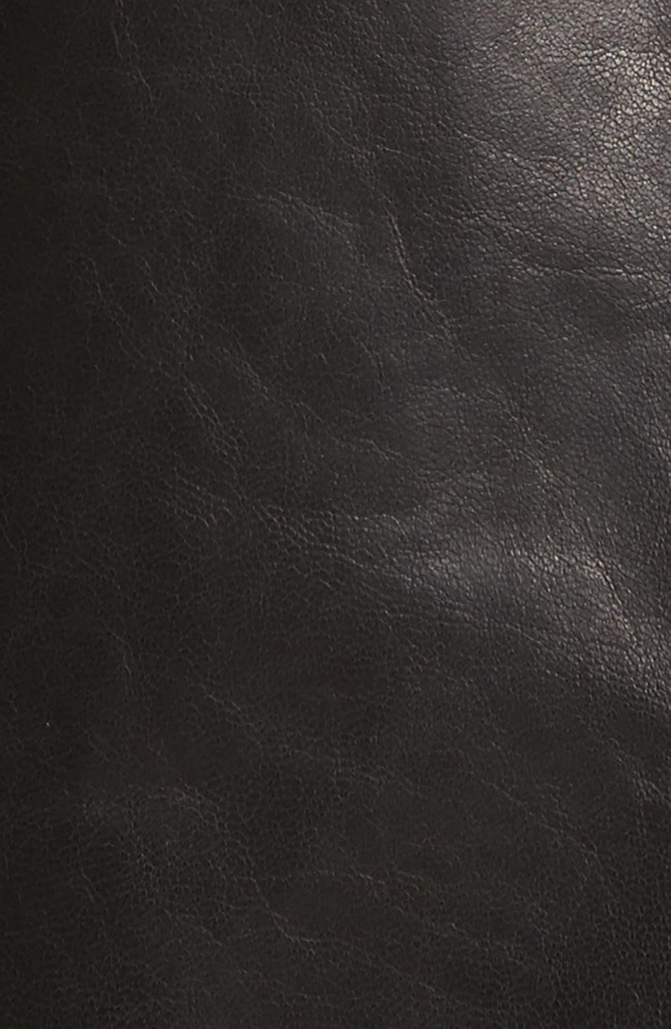 Caridee Glazed Lambskin Leather Jacket,                             Alternate thumbnail 6, color,                             001