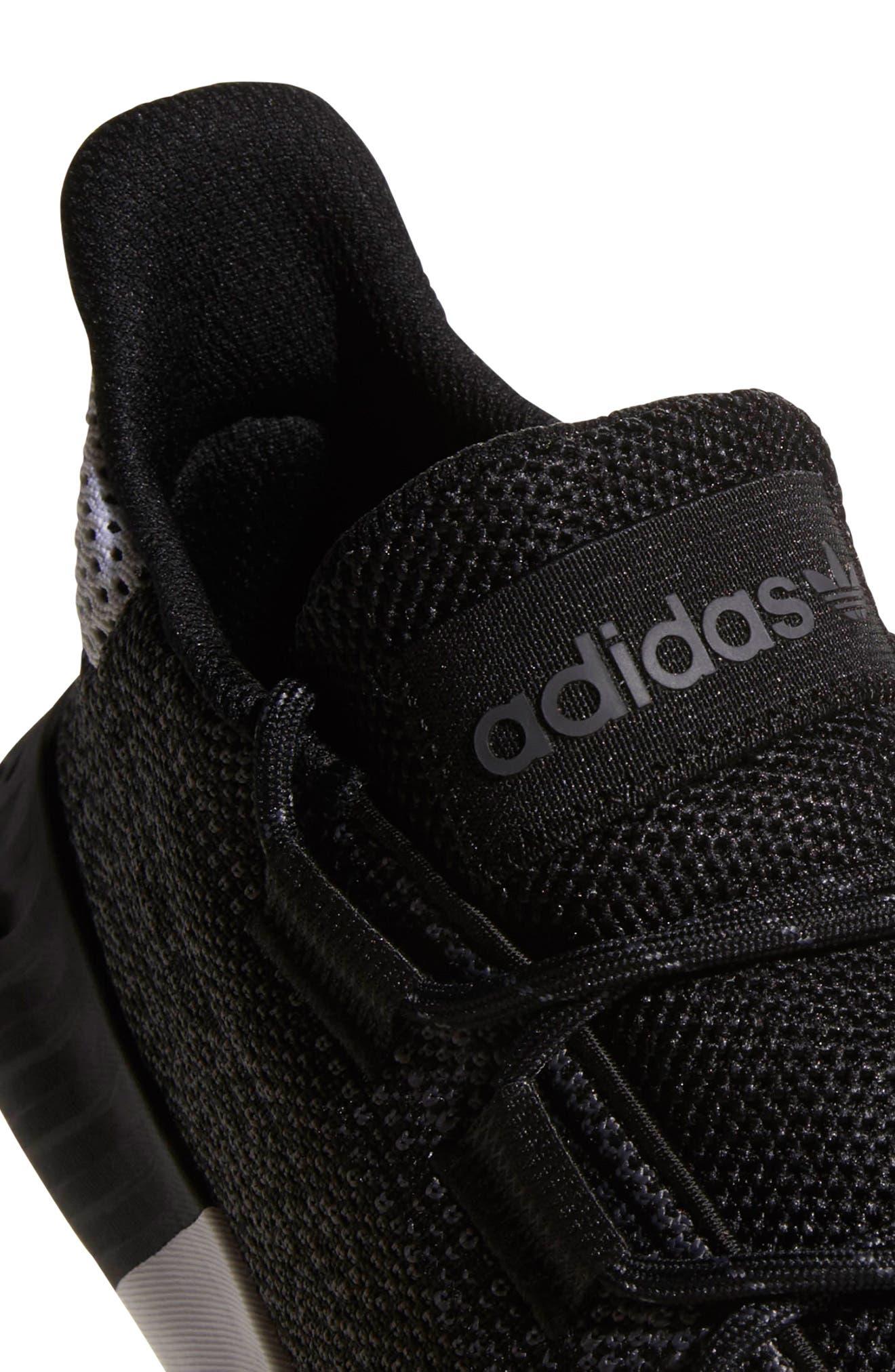 Tubular Dusk Primeknit Sneaker,                             Alternate thumbnail 6, color,                             WHITE/ BLACK/ GREY