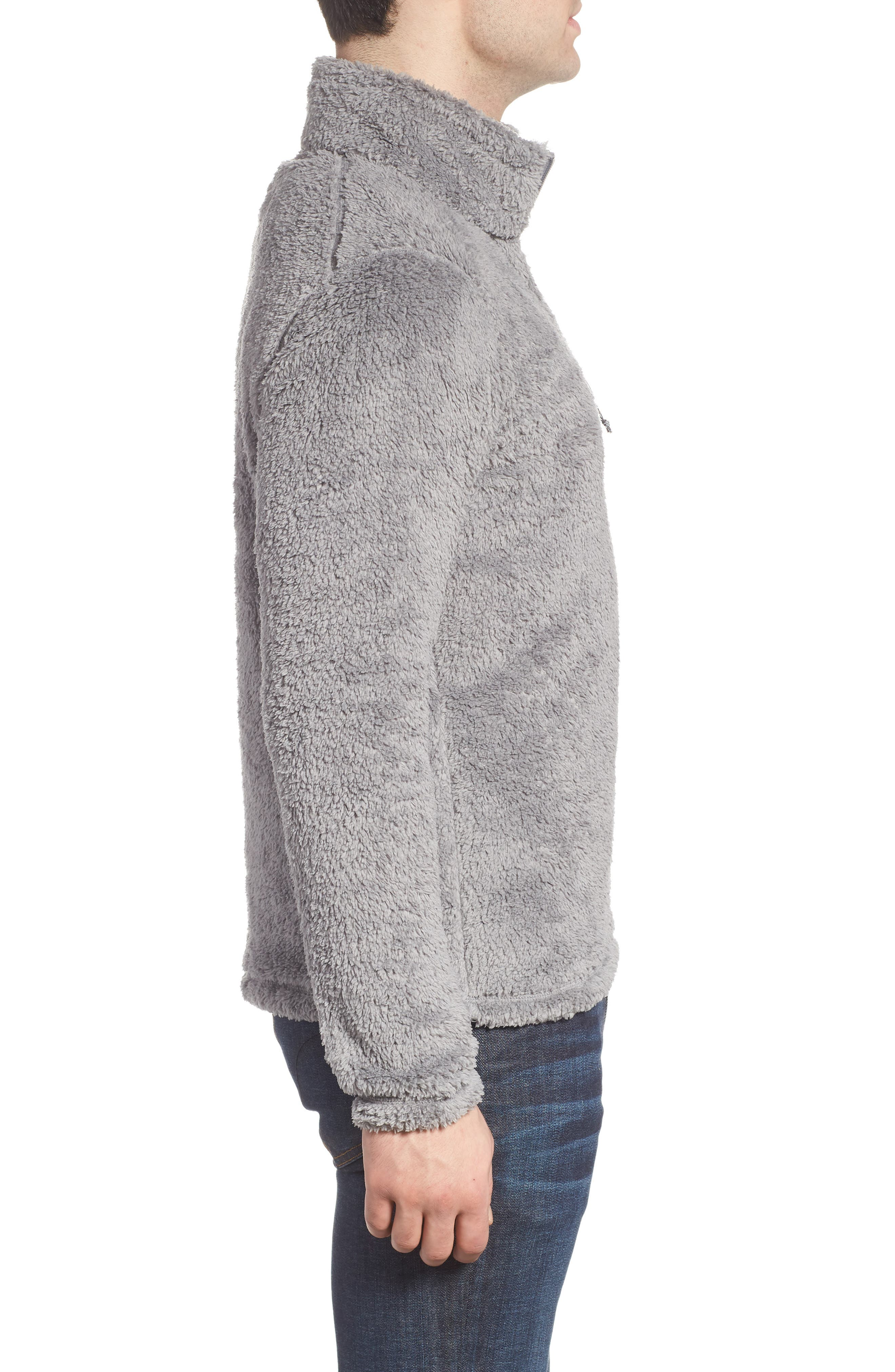 Los Gatos Quarter Zip Pullover,                             Alternate thumbnail 3, color,                             FEATHER GREY