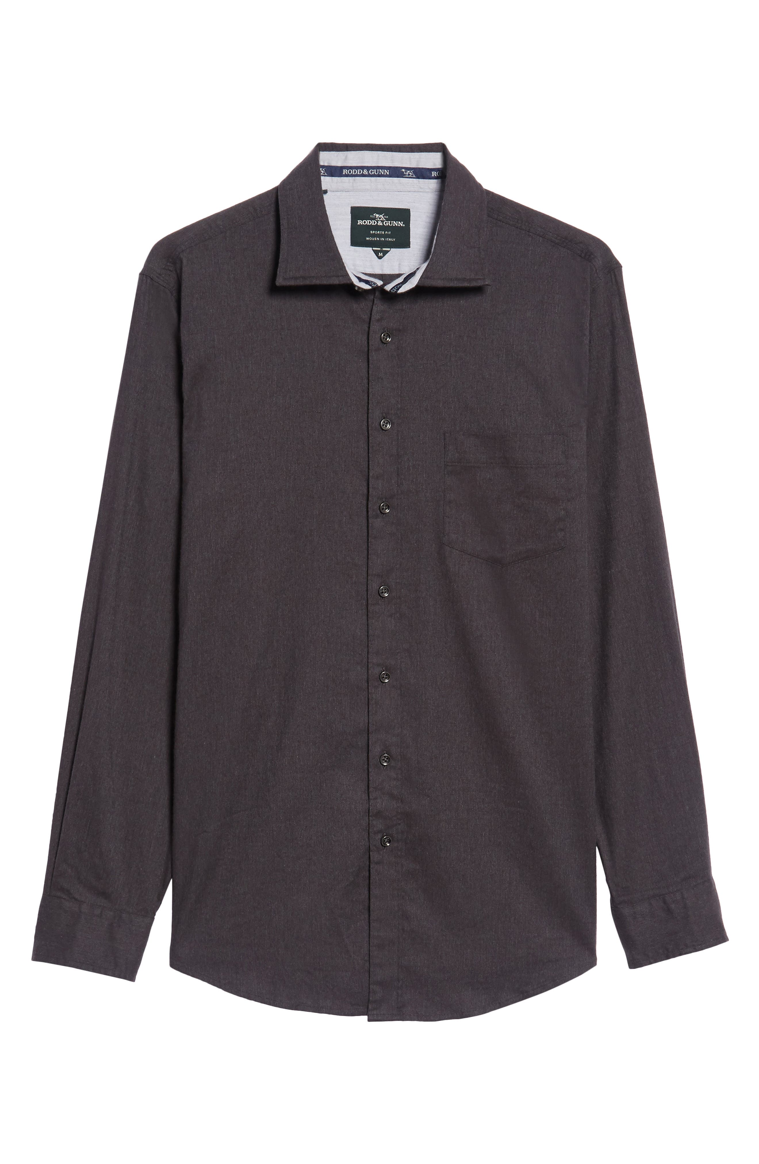 'Sinclair' Trim Fit Brushed Twill Sport Shirt,                             Alternate thumbnail 6, color,                             021