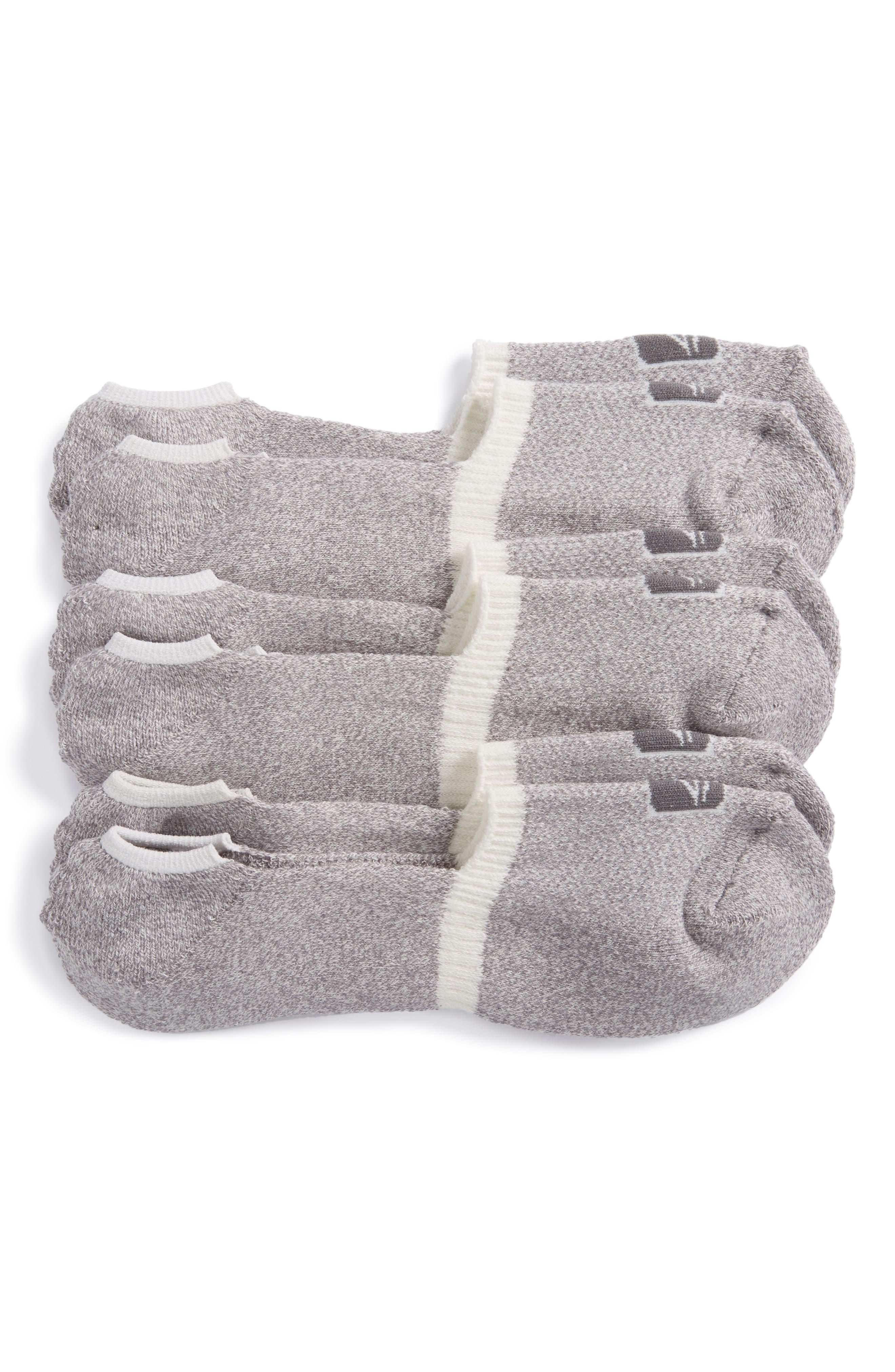 3-Pack No-Show Liner Socks,                             Main thumbnail 1, color,                             100