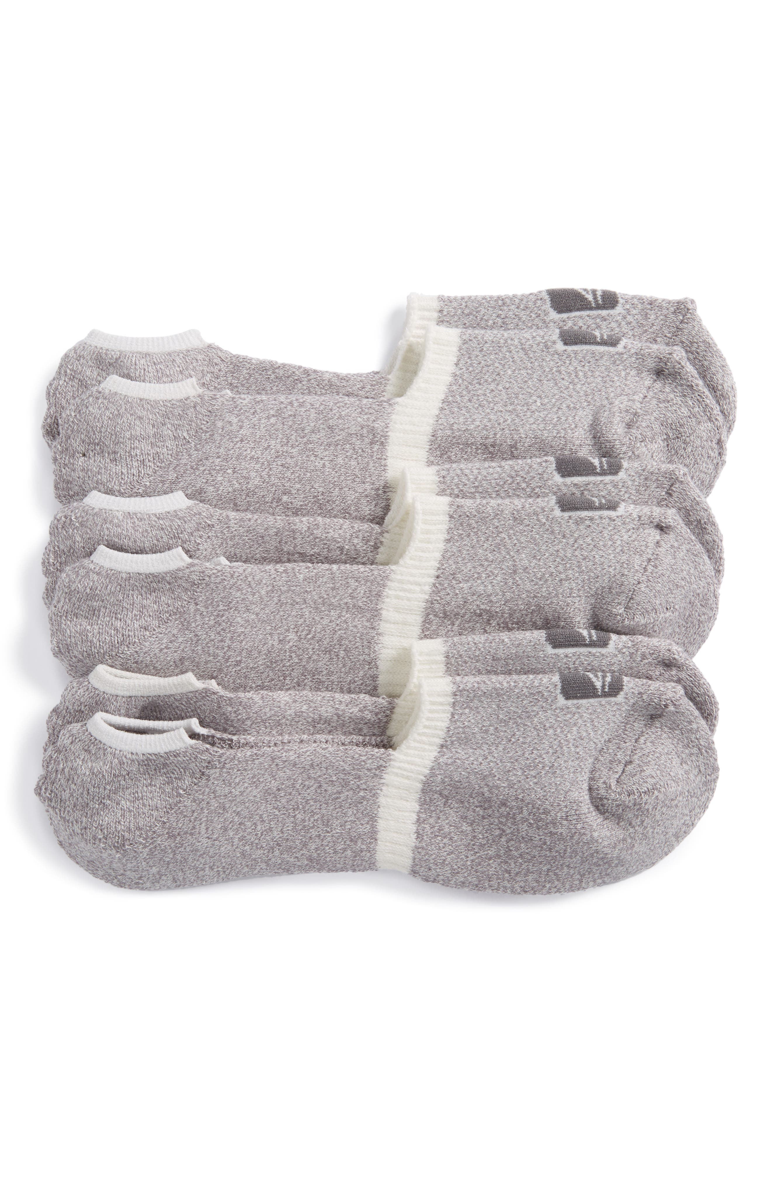 3-Pack No-Show Liner Socks,                             Alternate thumbnail 2, color,                             100