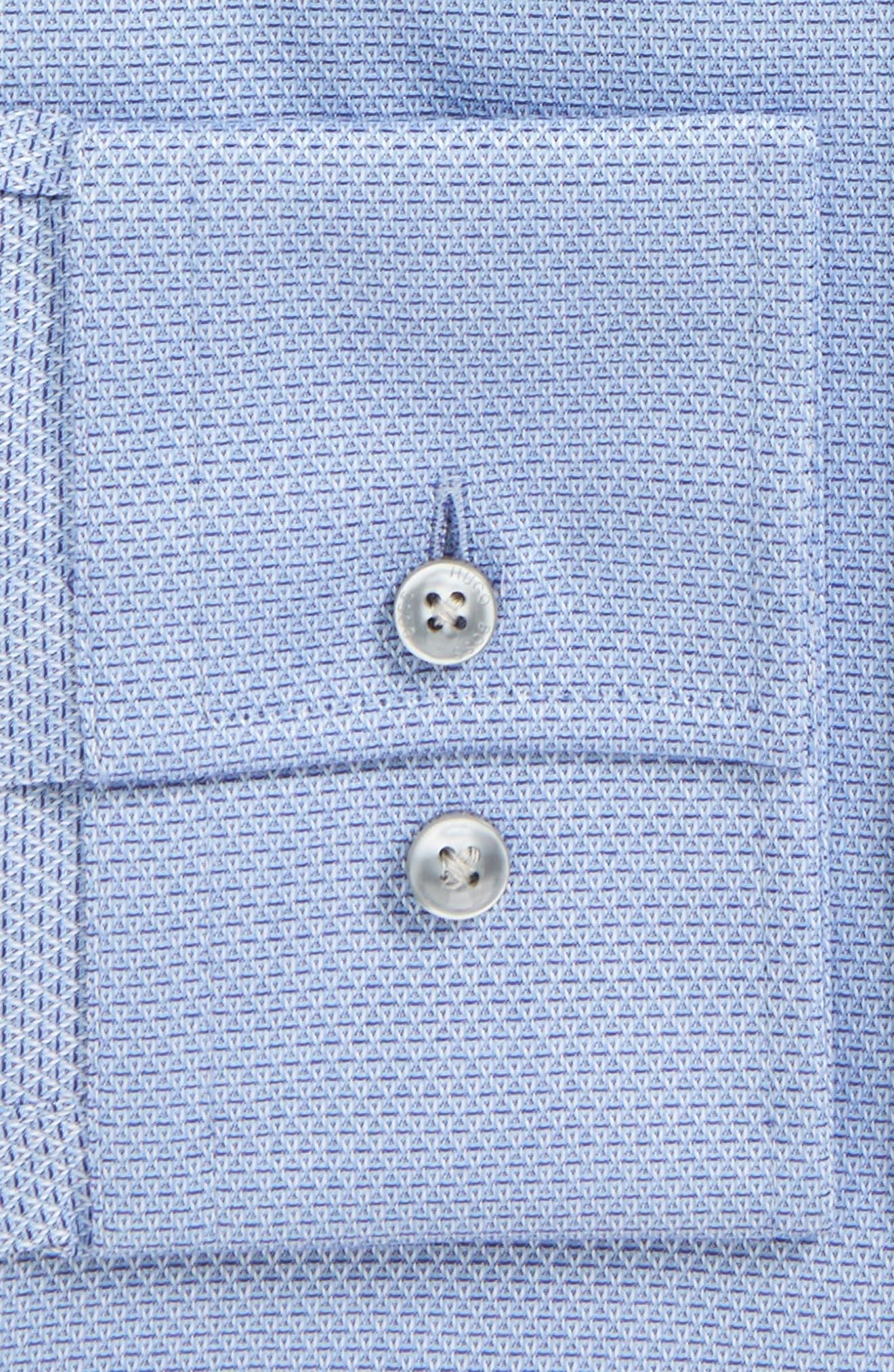 Jenno Slim Fit Textured Dress Shirt,                             Alternate thumbnail 3, color,