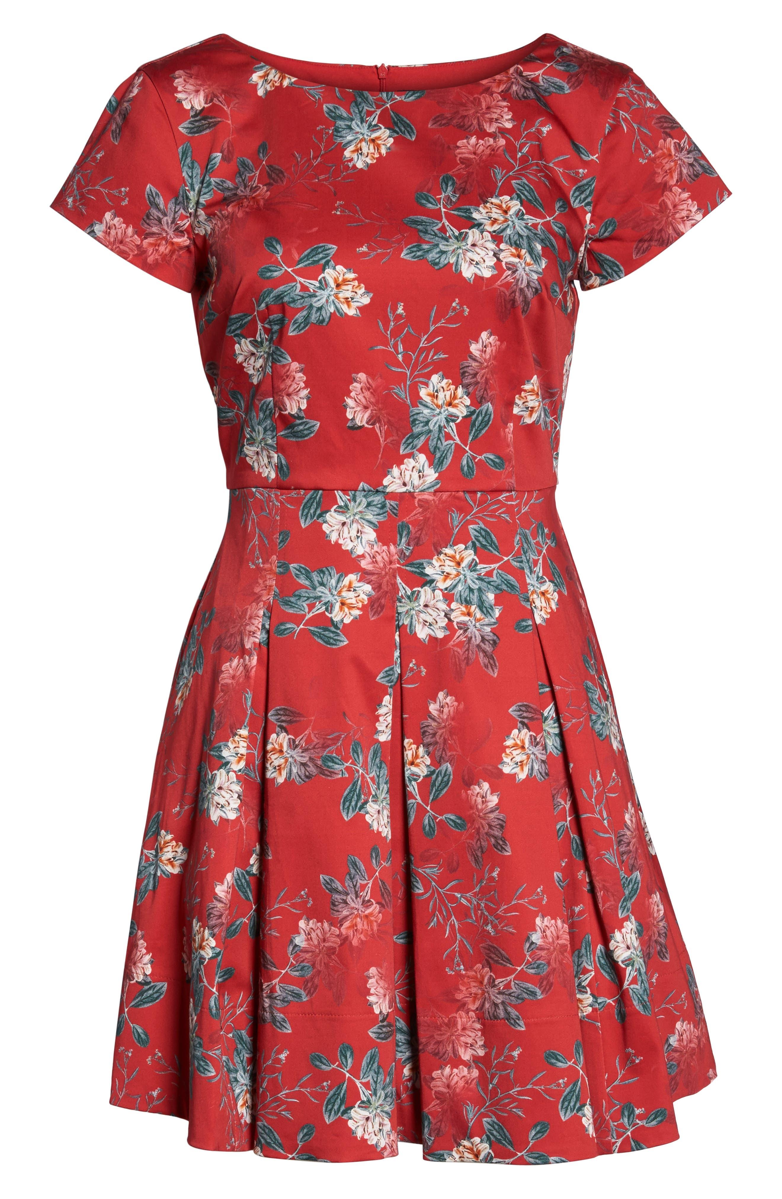 Kioa Fit & Flare Dress,                             Alternate thumbnail 8, color,