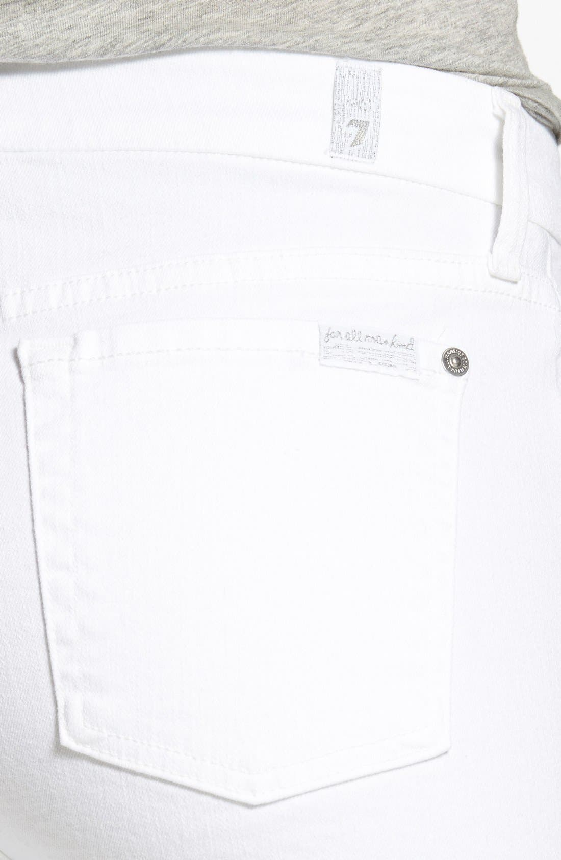 'The Skinny' Skinny Jeans,                             Alternate thumbnail 5, color,                             CLEAN WHITE