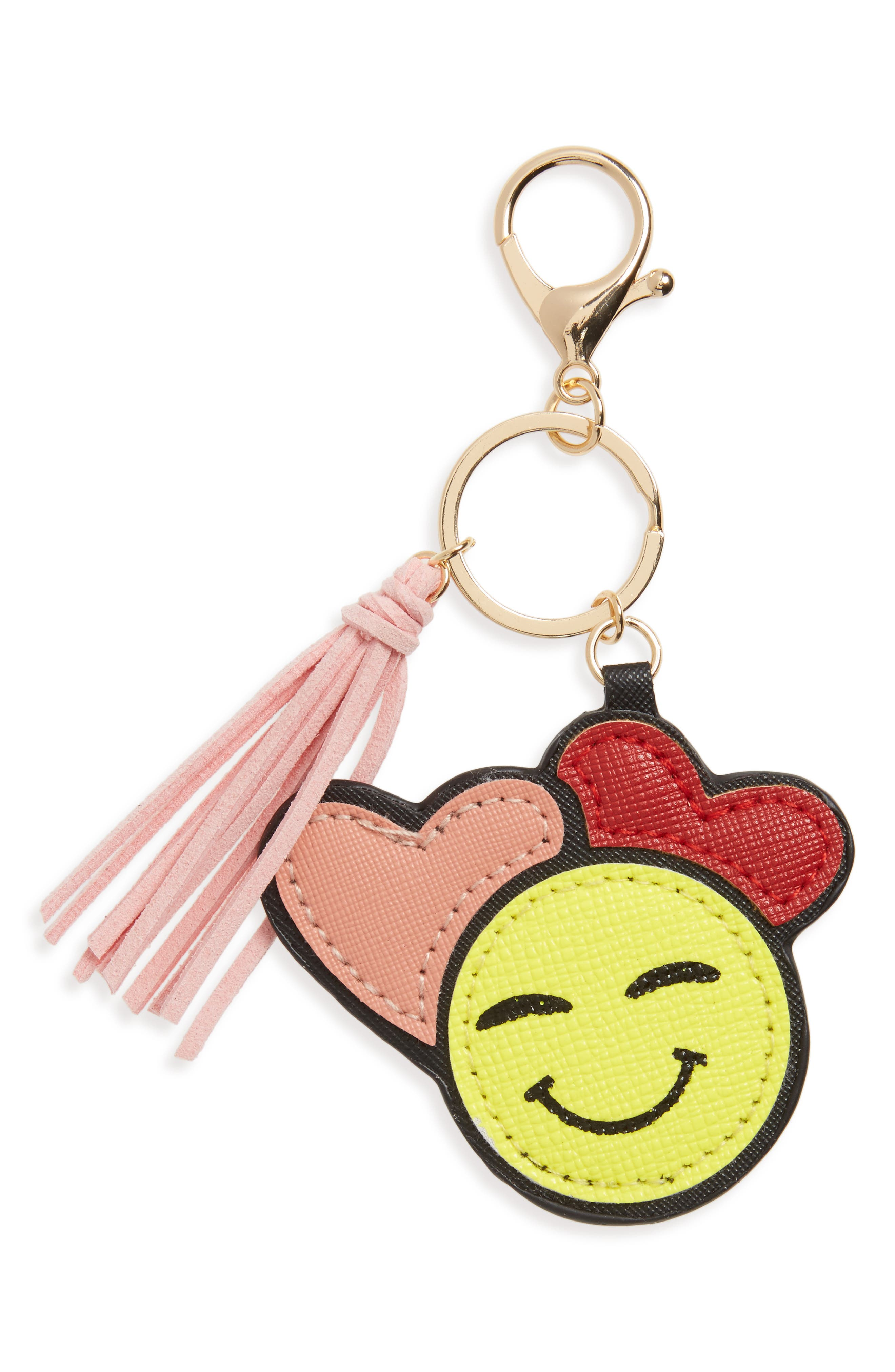 In Love Emoji Key Chain,                             Main thumbnail 1, color,                             001