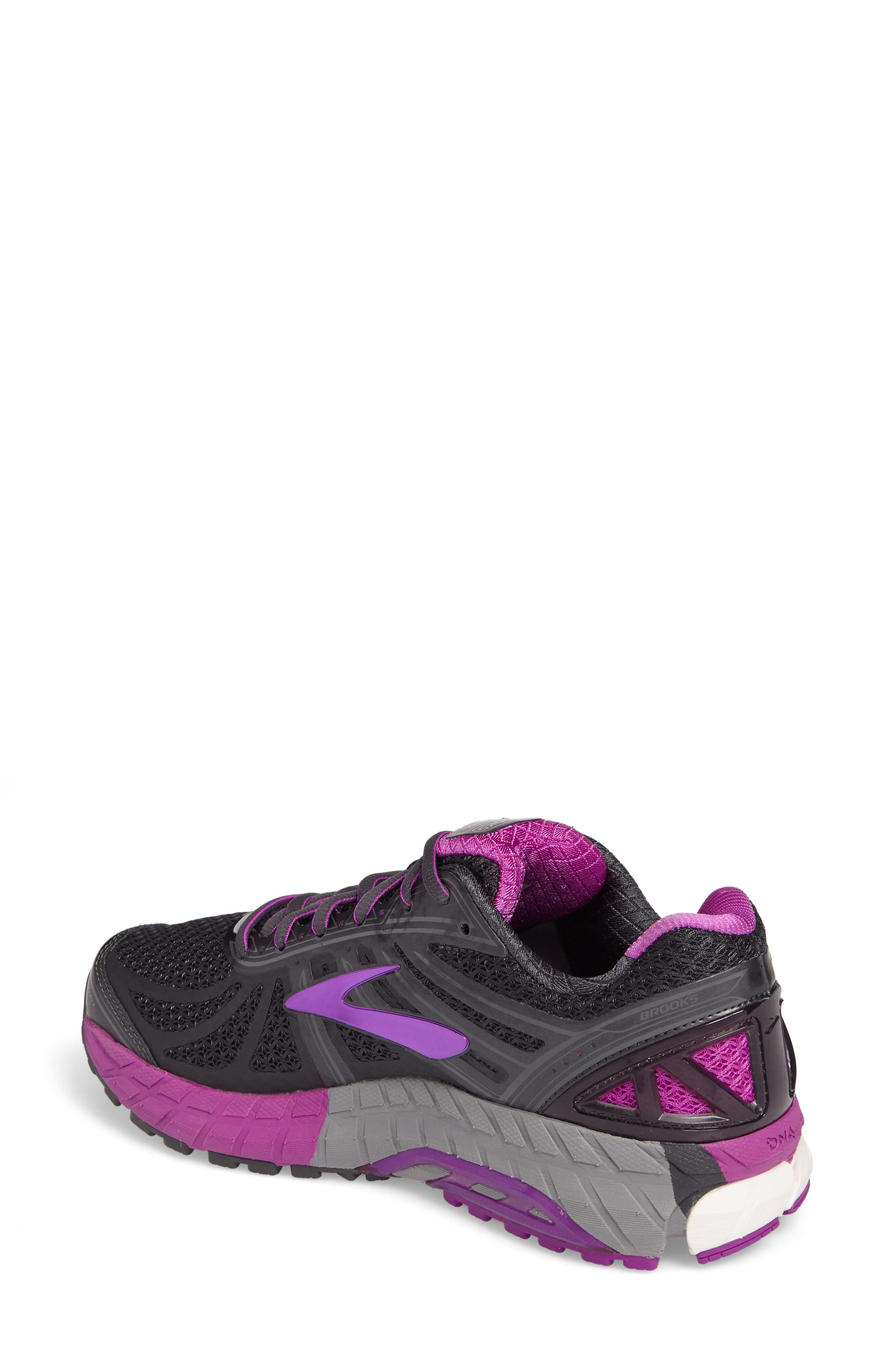 'Ariel 16' Running Shoe,                             Alternate thumbnail 2, color,                             ANTHRACITE/ PURPLE/ GREY