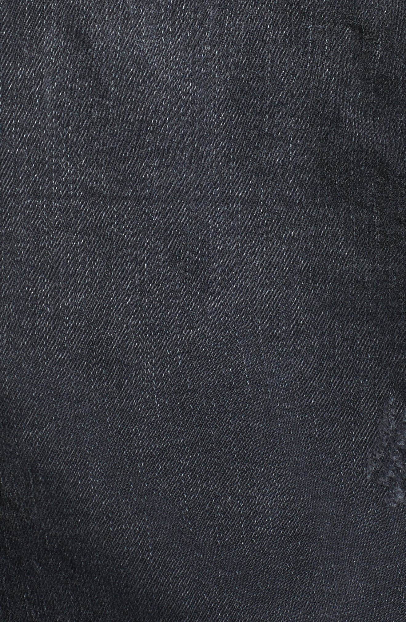 True Religion Danni Destroyed Denim Jacket,                             Alternate thumbnail 6, color,