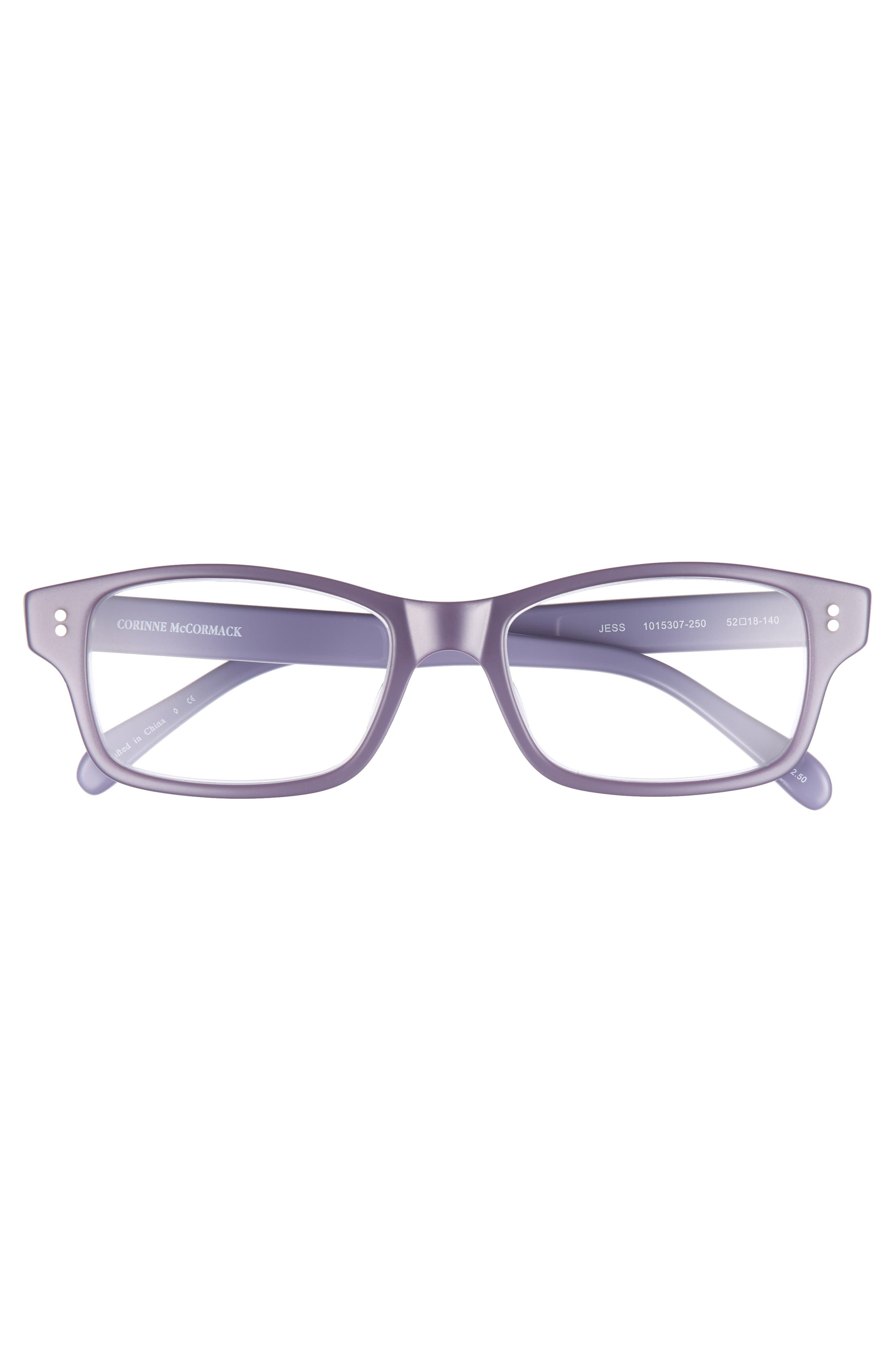 'Jess' 52mm Reading Glasses,                             Alternate thumbnail 3, color,                             VIOLET