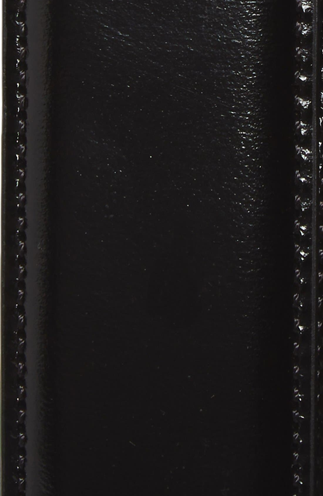Calfskin Belt,                             Alternate thumbnail 2, color,                             BLACK