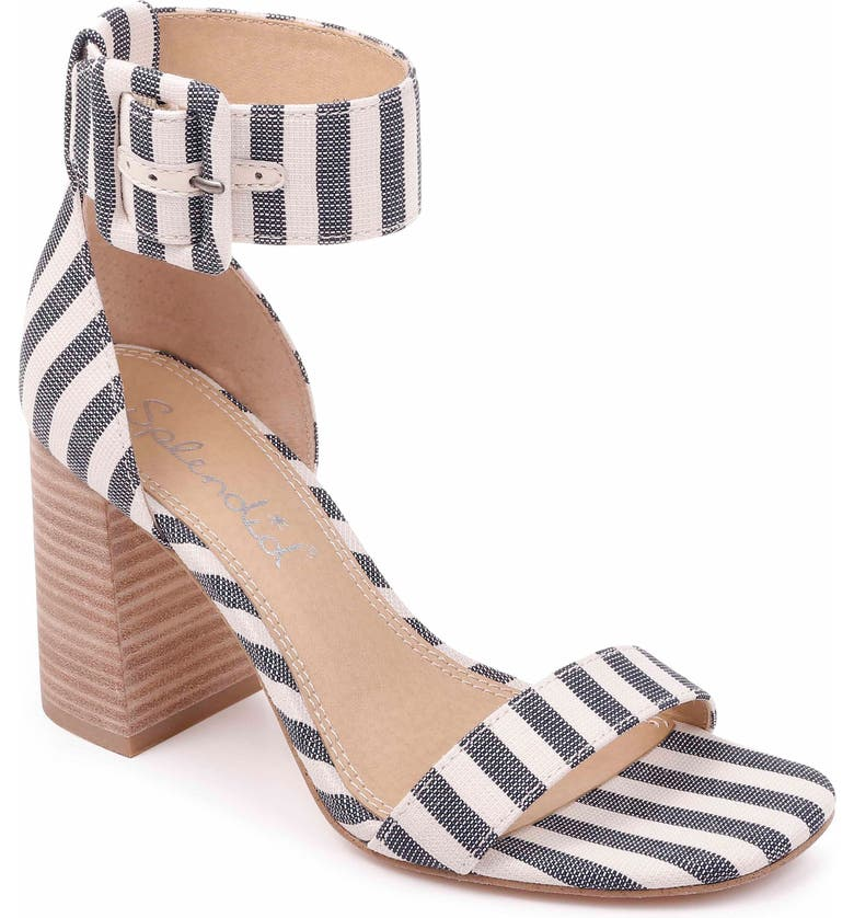 0eb818aa31c A wide buckle strap makes a modern statement on a block-heel sandal that s  destined to stand out from the crowd. Style Name  Splendid Block Heel Sandal  ...