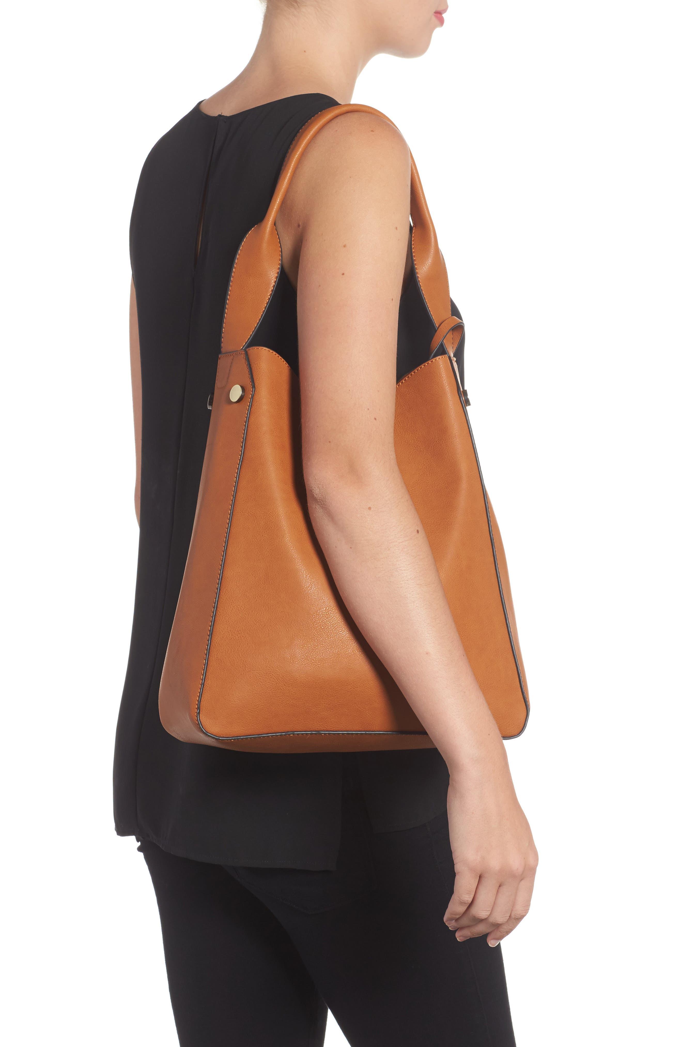 Alani Faux Leather Shoulder Bag,                             Alternate thumbnail 4, color,