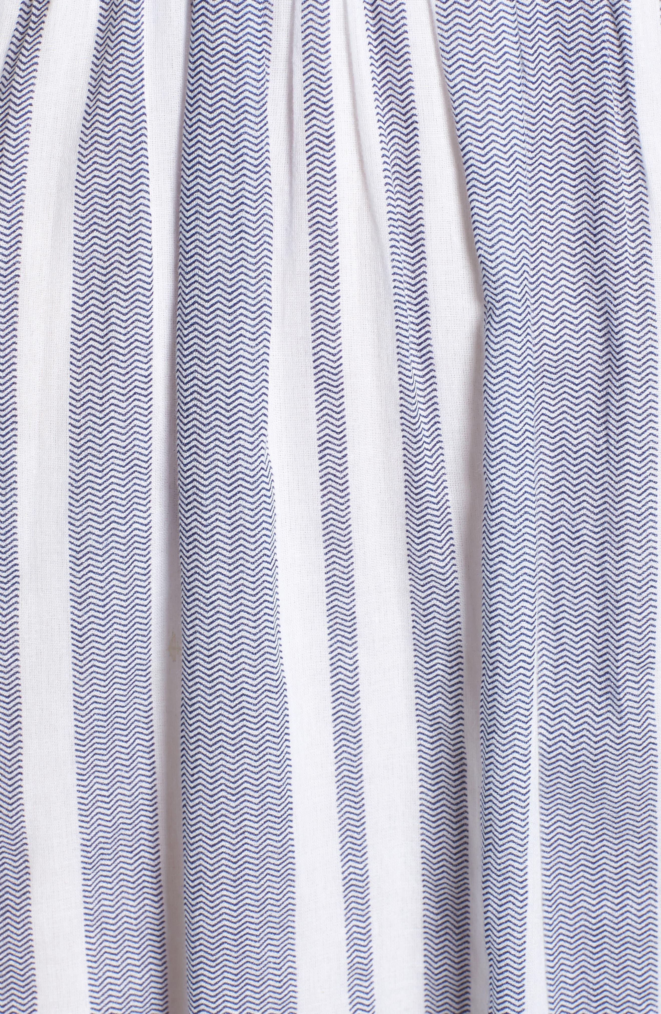 Setting Sail Stripe Maxi Dress,                             Alternate thumbnail 5, color,                             470