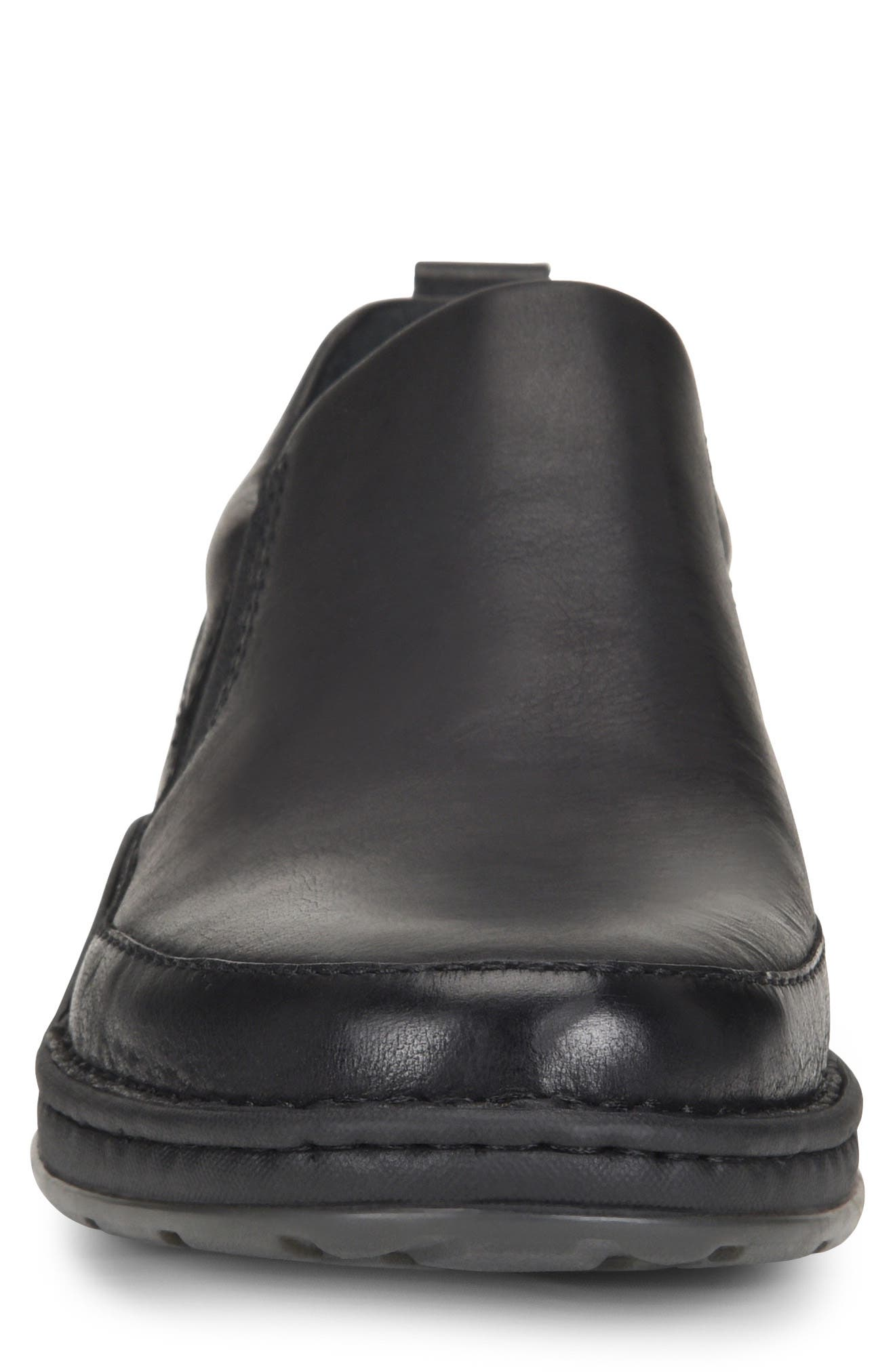 Kent Slip-On,                             Alternate thumbnail 4, color,                             BLACK LEATHER