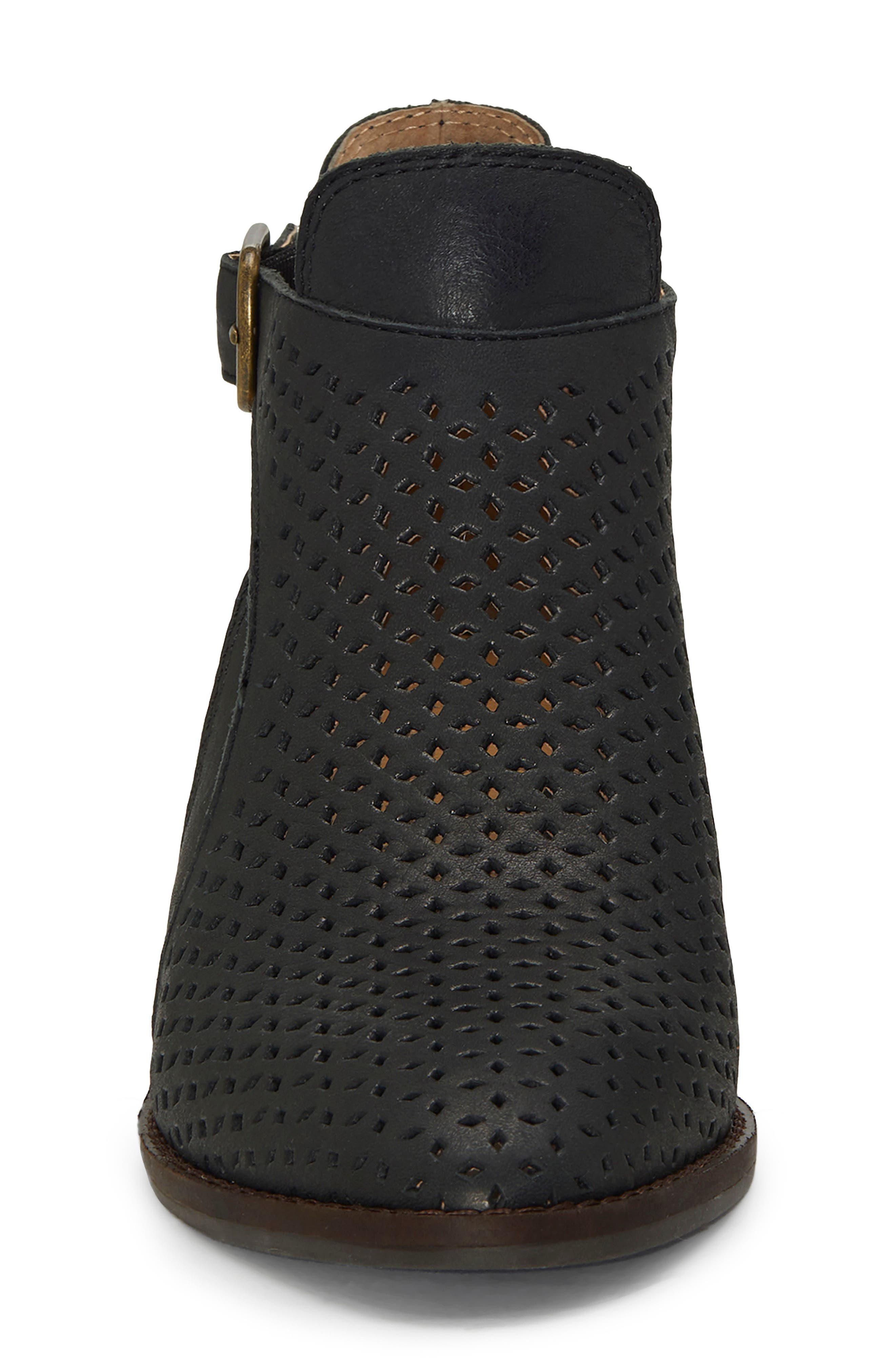Fillian Bootie,                             Alternate thumbnail 4, color,                             BLACK LEATHER