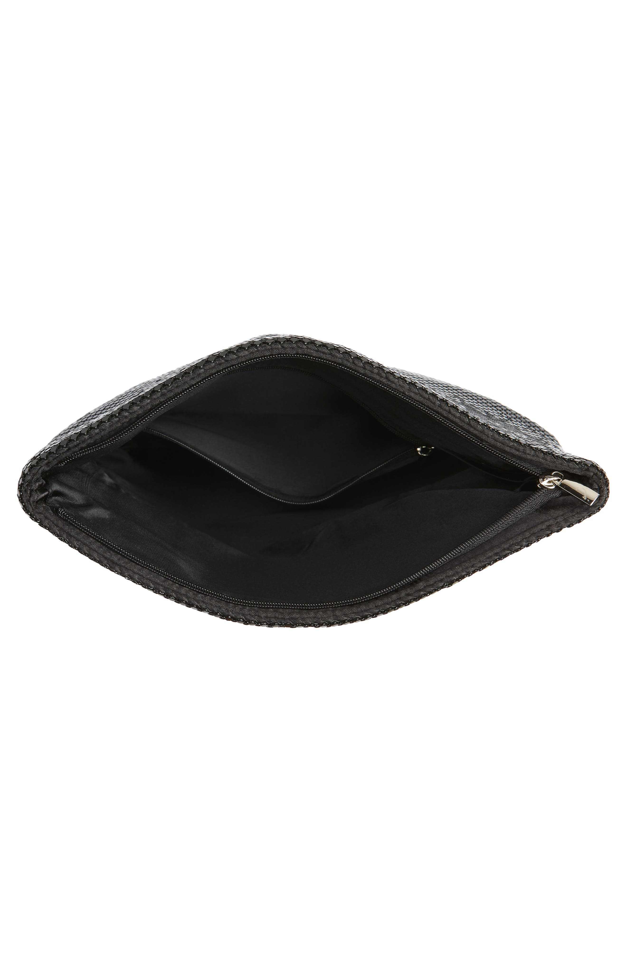 Crystal Mesh Crossbody Bag,                             Alternate thumbnail 4, color,                             BLACK