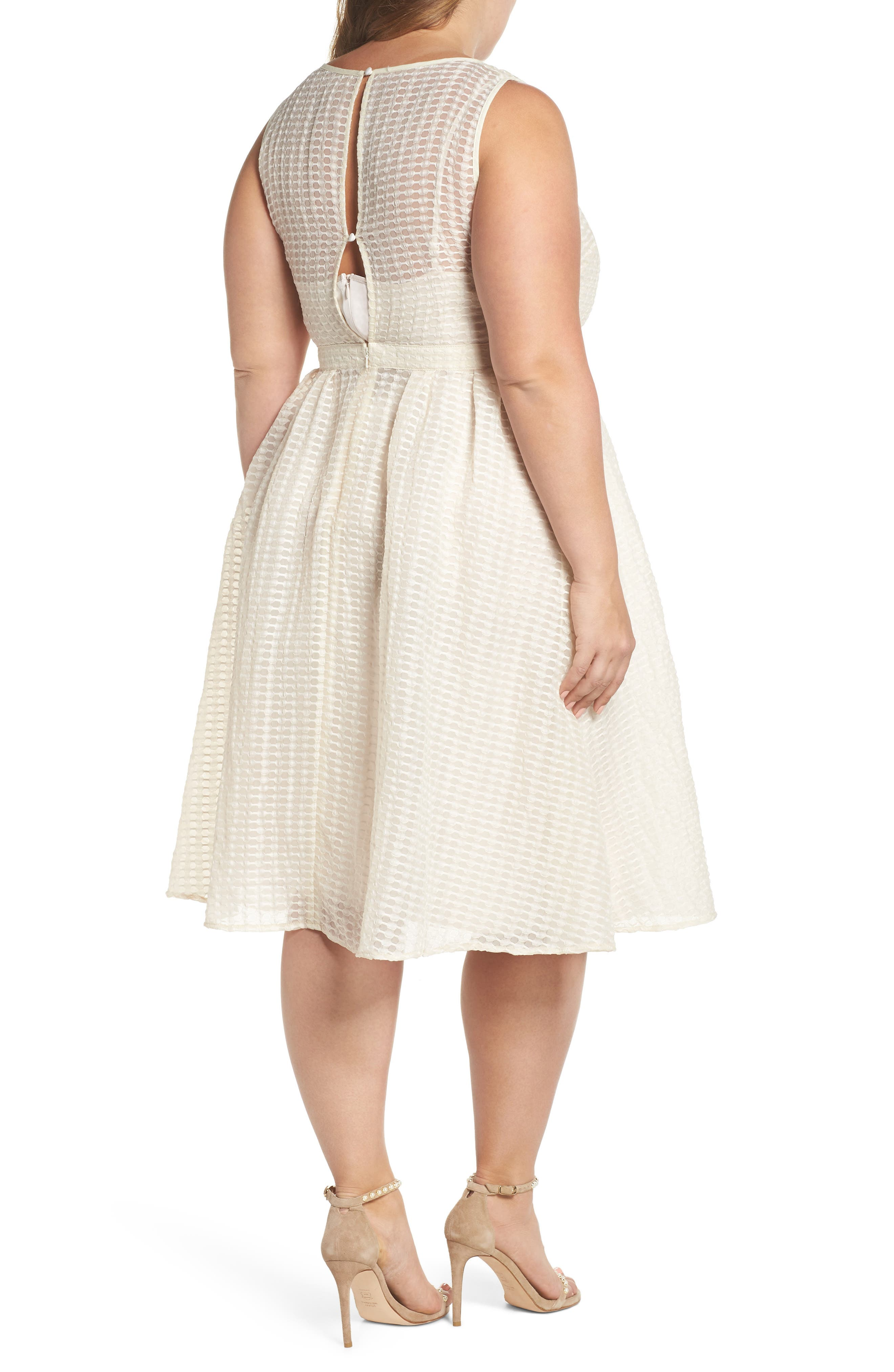 The Evelyn Textured Midi Dress,                             Alternate thumbnail 2, color,                             900