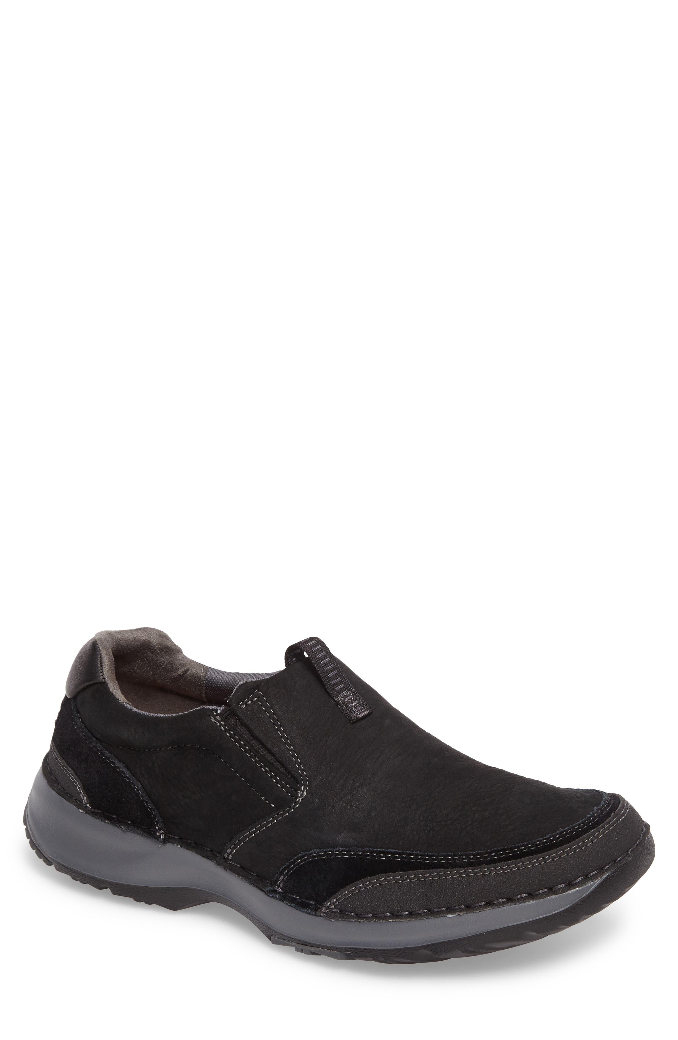 Lite Five Slip-On,                         Main,                         color, BLACK LEATHER