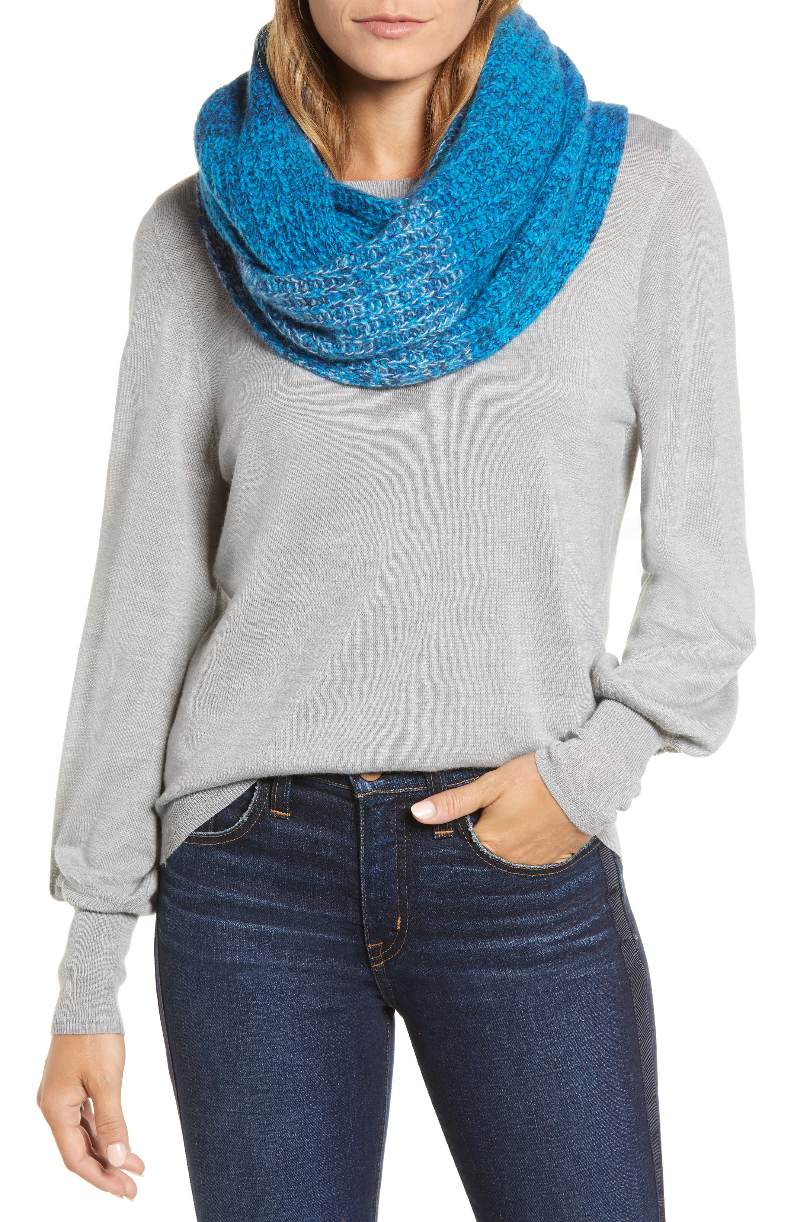 HALOGEN<SUP>®</SUP> Ombré Cashmere Infinity Scarf, Main, color, 420