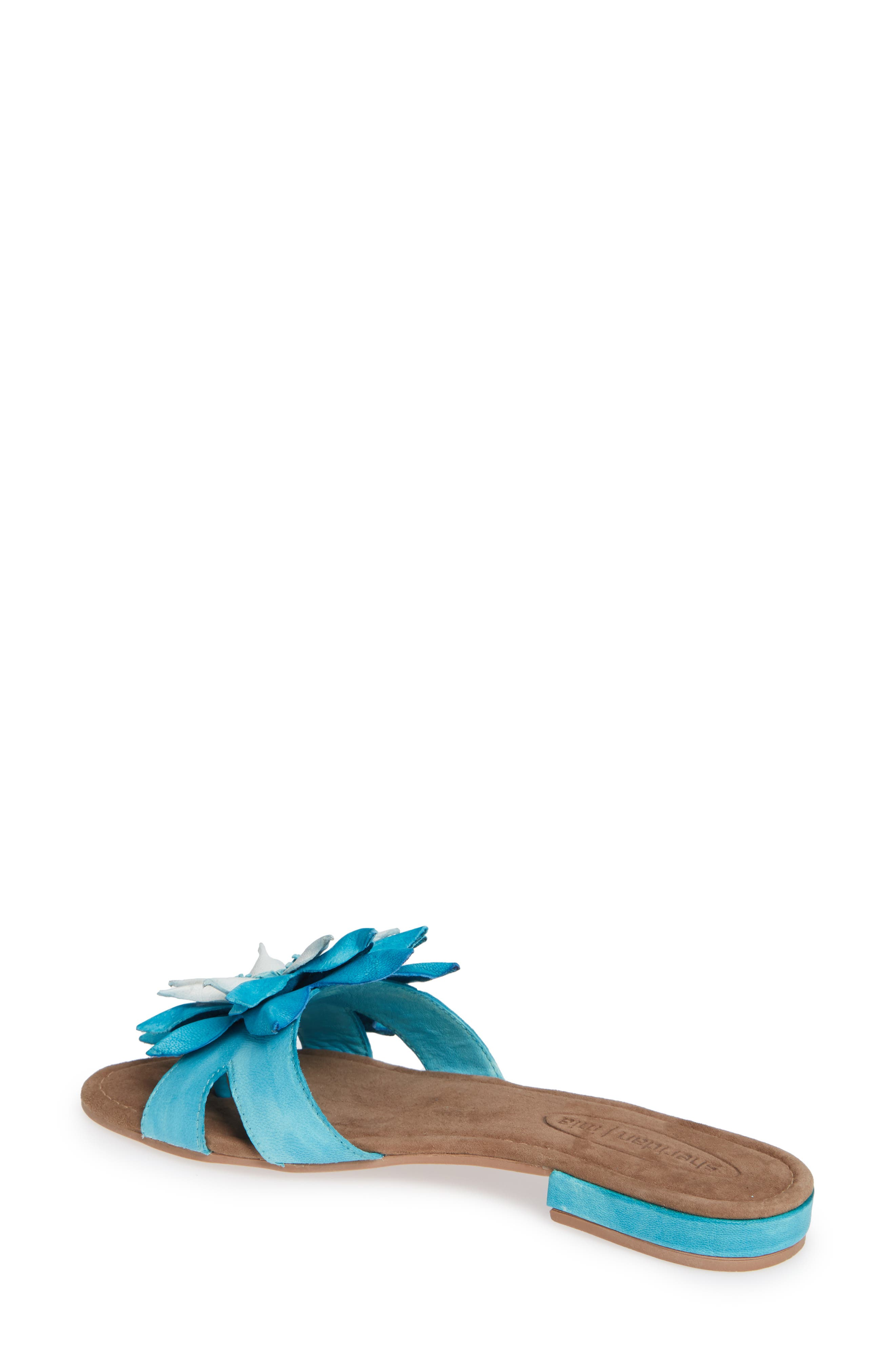 Stella Sandal,                             Alternate thumbnail 2, color,                             TURQUOISE LEATHER