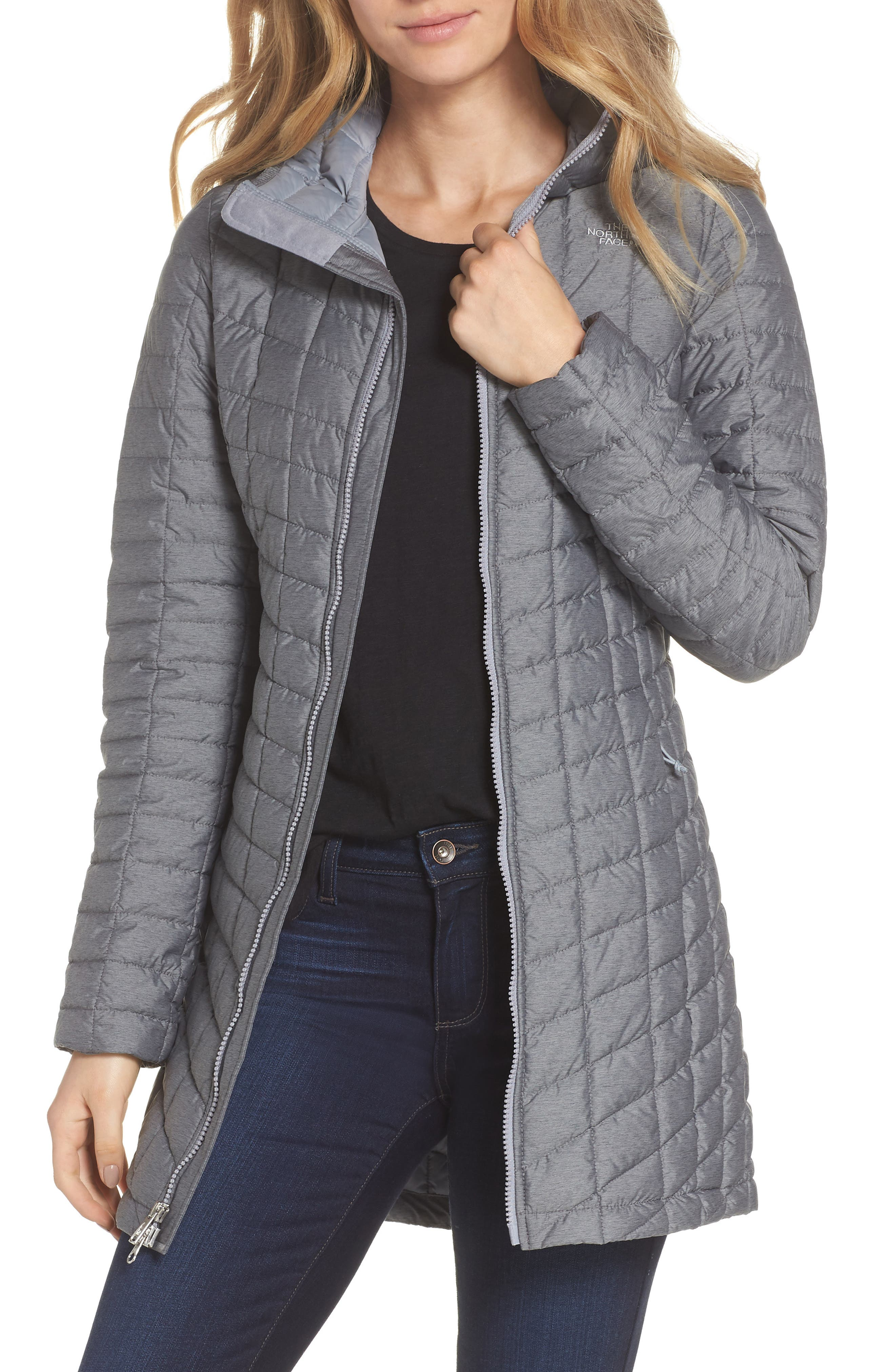 THE NORTH FACE,                             ThermoBall<sup>™</sup> Insulated Hooded Parka,                             Main thumbnail 1, color,                             033