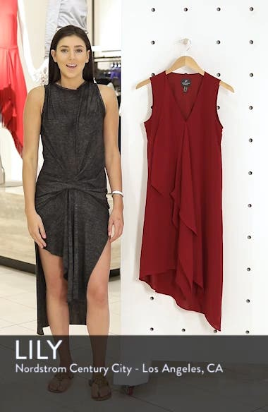 Ruffle Front Crepe High/Low Dress, sales video thumbnail