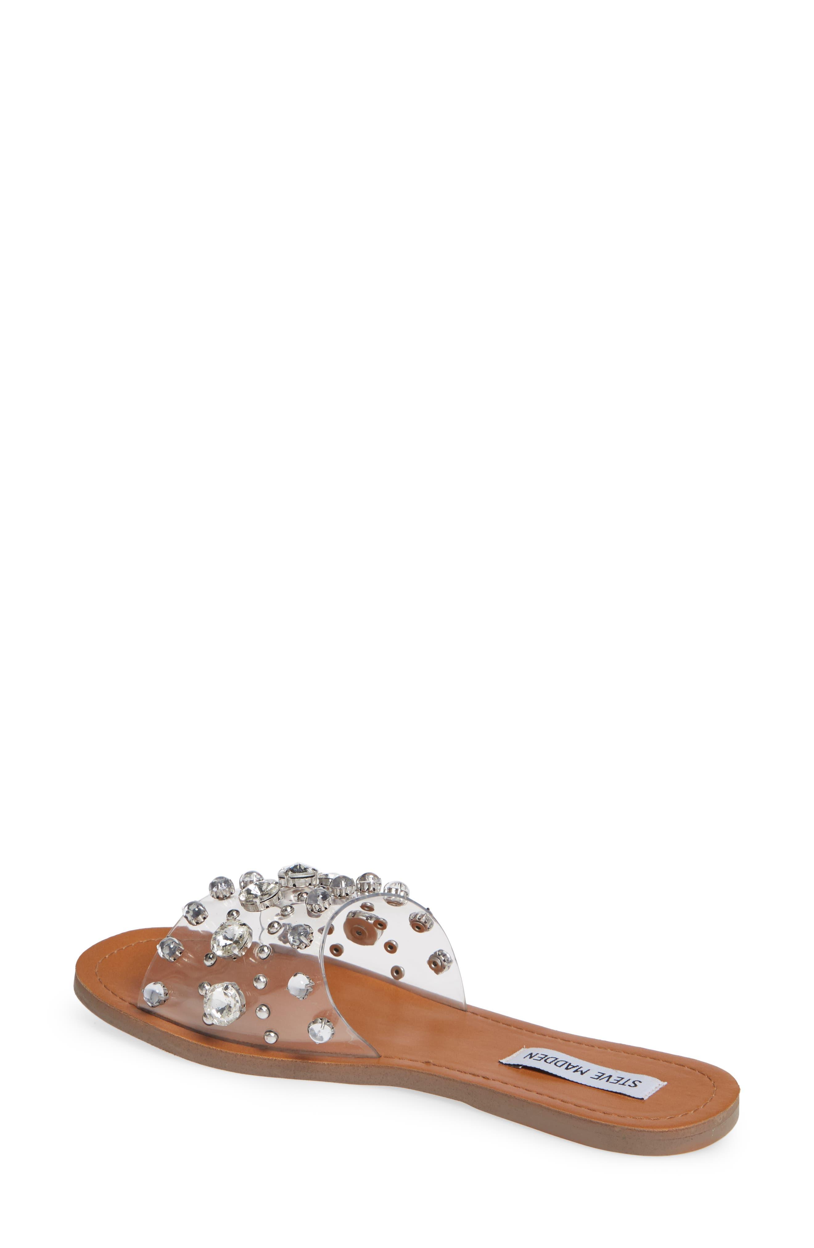 Regent Embellished Slide Sandal,                             Alternate thumbnail 2, color,                             CLEAR