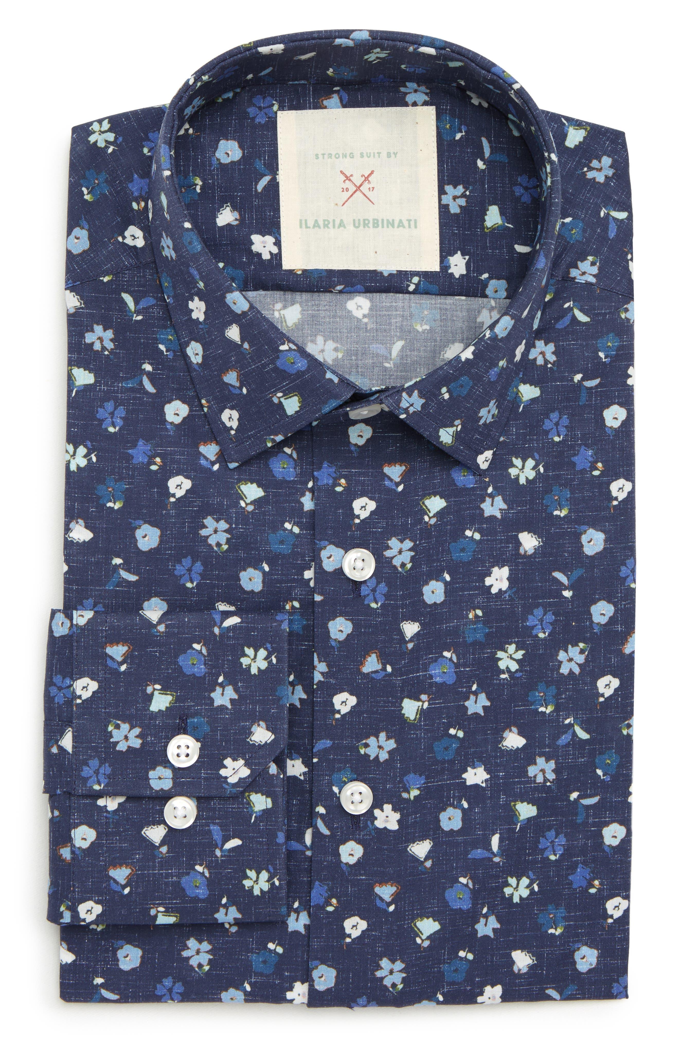 by Ilaria Urbinati Edmond Slim Fit Floral Dress Shirt,                             Main thumbnail 1, color,                             417